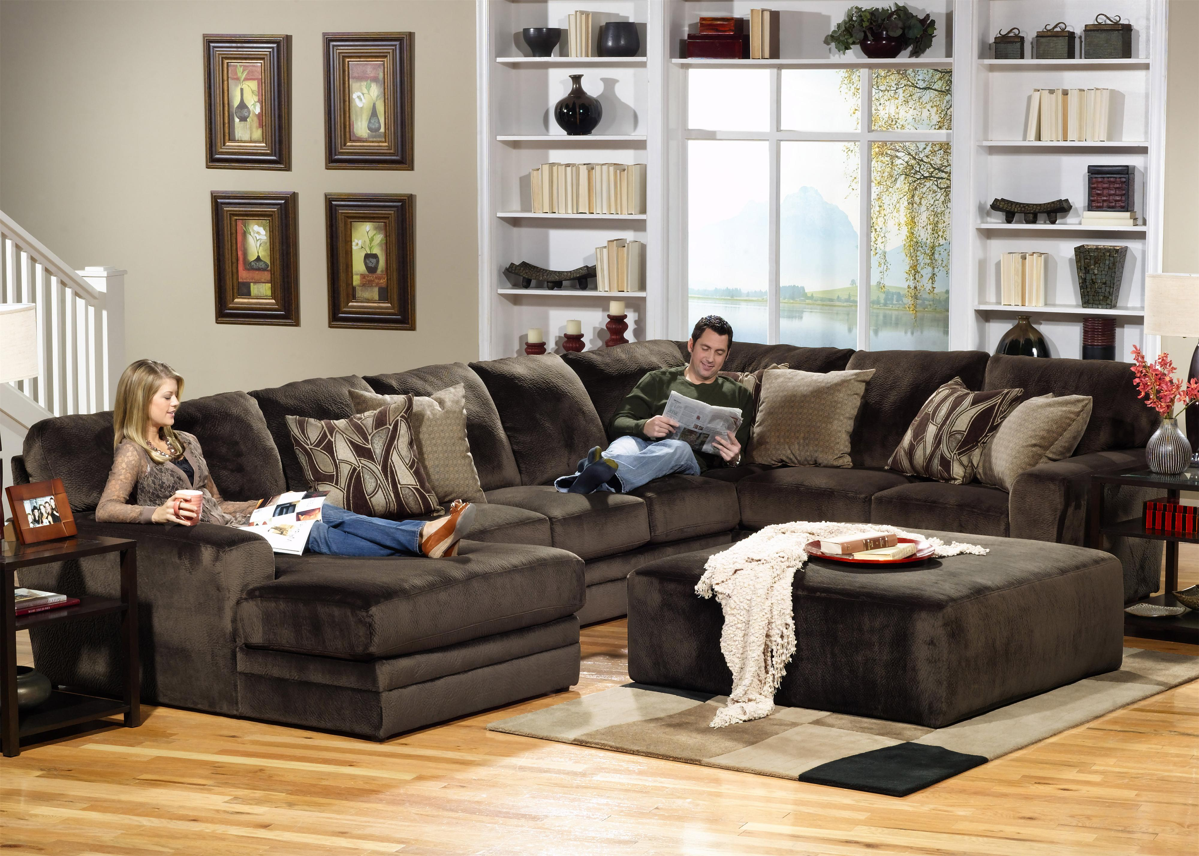 Jackson Furniture 4377 Everest 3 Piece Sectional With Rsf Section Dream Home Furniture