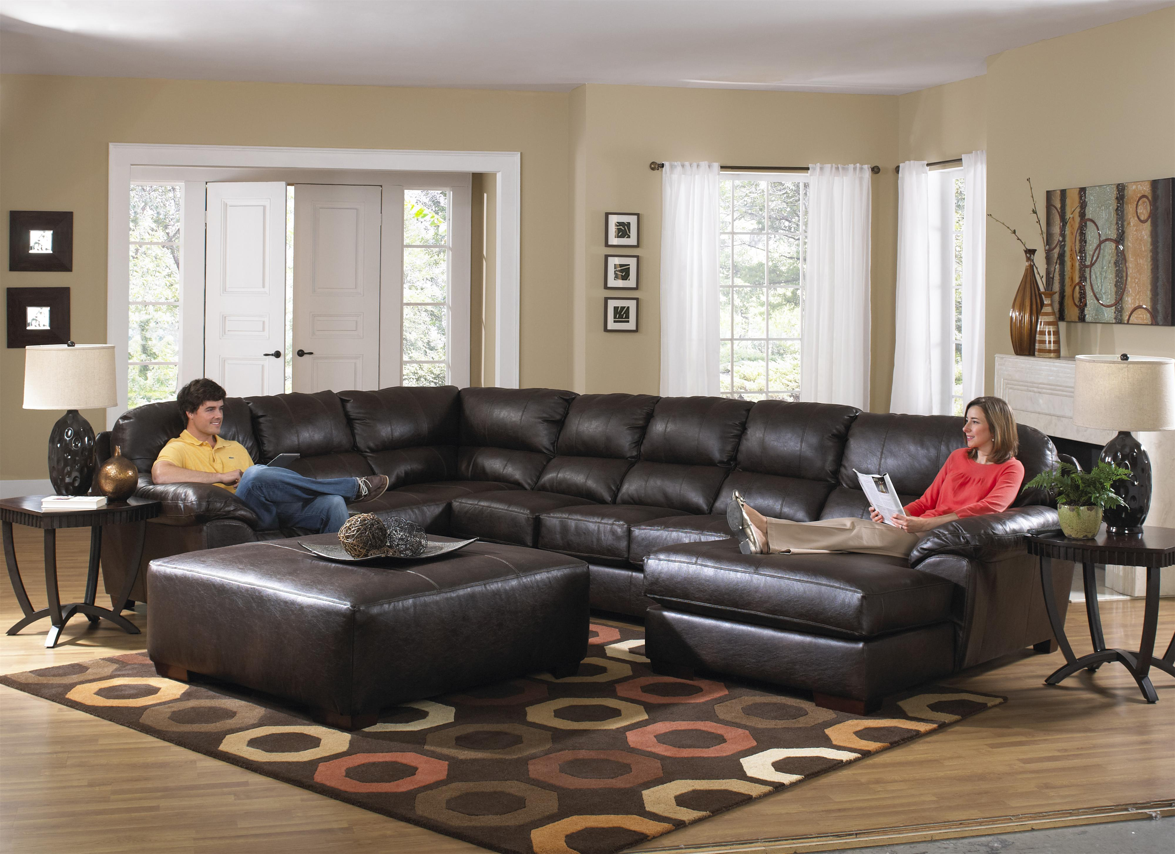 Lawson extra large seven seat sectional by jackson for Large living room furniture