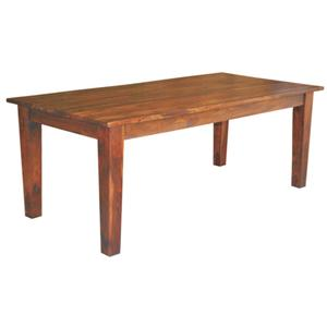 Crown Mark Camelia Rectangular Dining Table with Glass Top