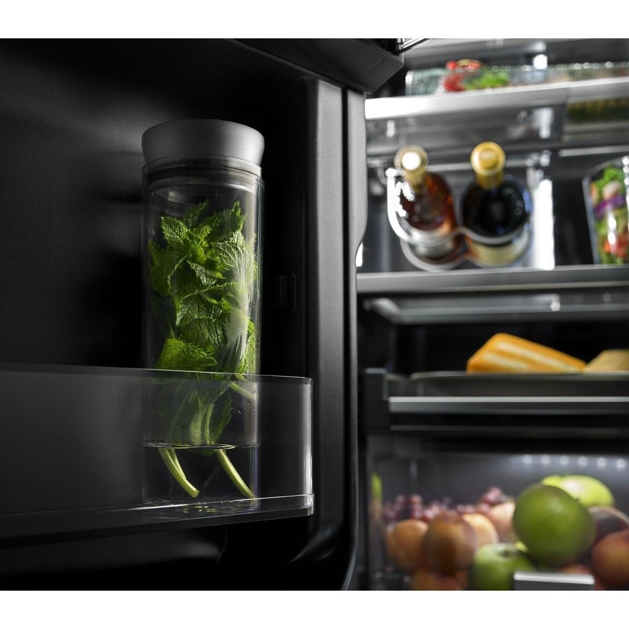 Jenn air jffcc72efp72 counter depth french door for Obsidian interior refrigerator