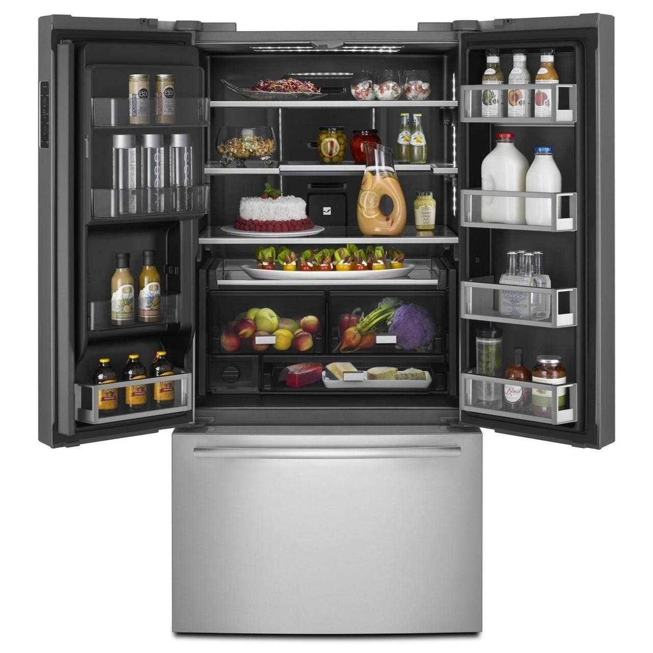 Jenn Air Jffcc72efs72 Counter Depth French Door Refrigerator With Obsidian Interior Furniture