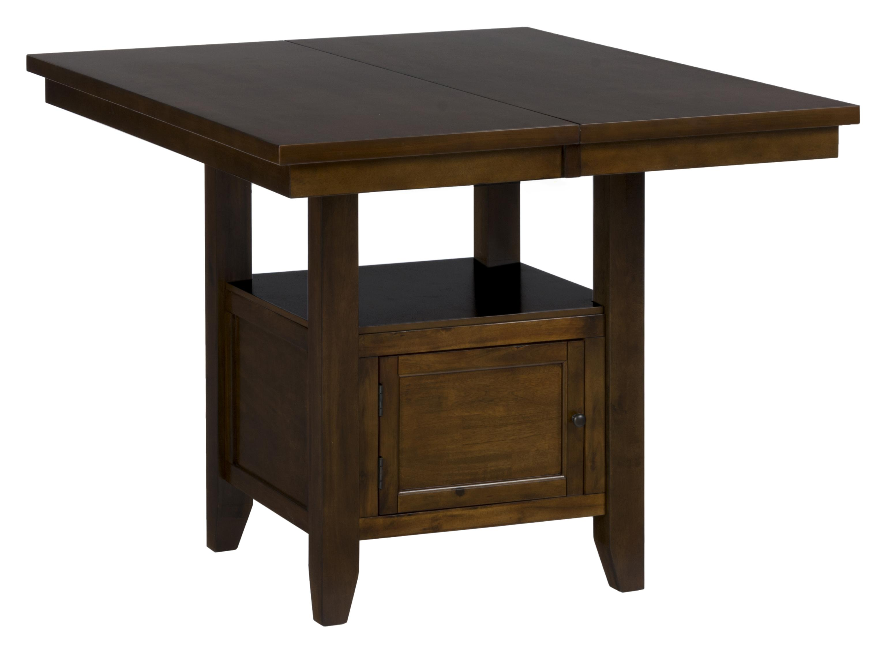 Jofran taylor brown cherry double header storage counter for Table header
