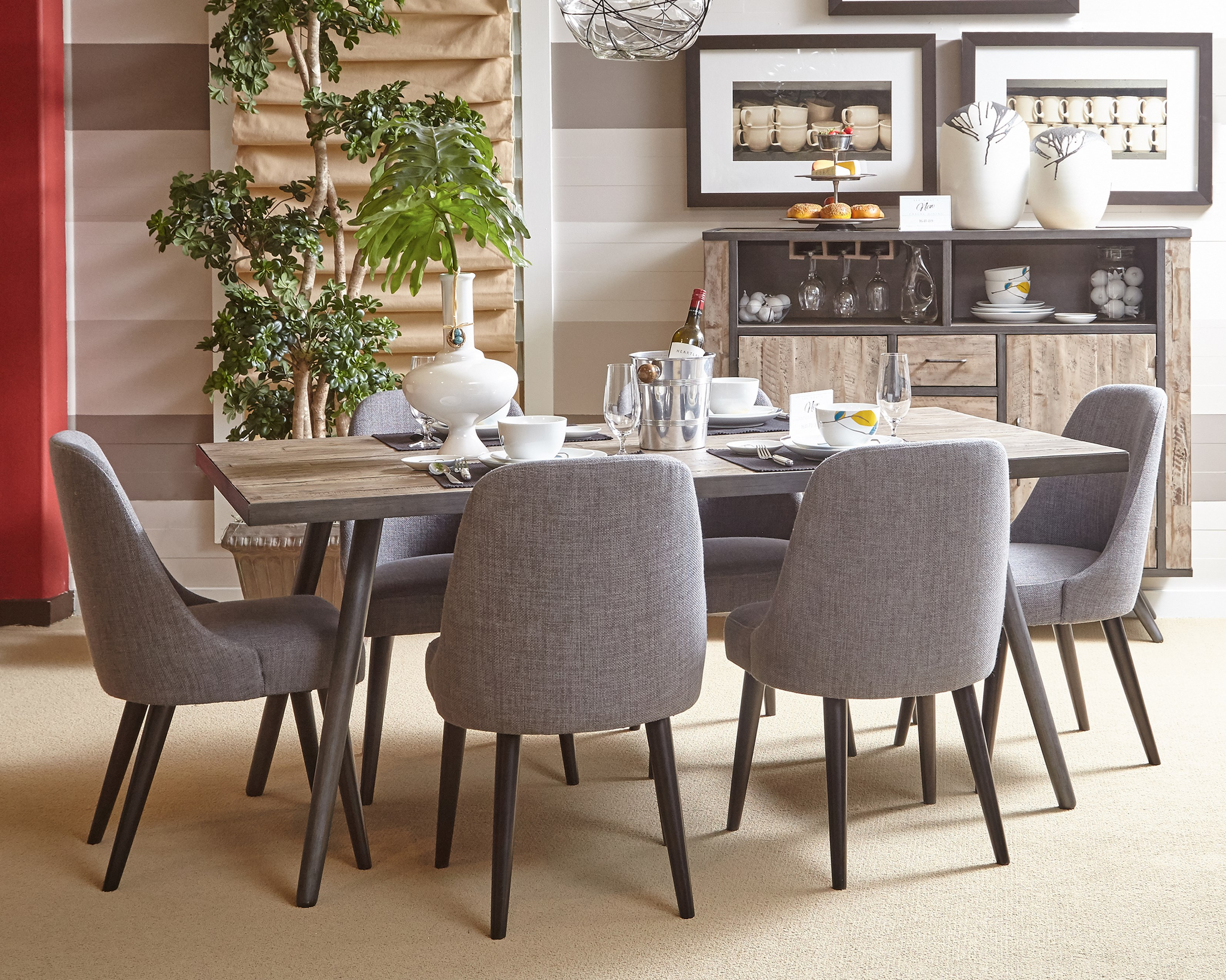 Belfort essentials american retrospective dining table and for Dining room tables american furniture warehouse