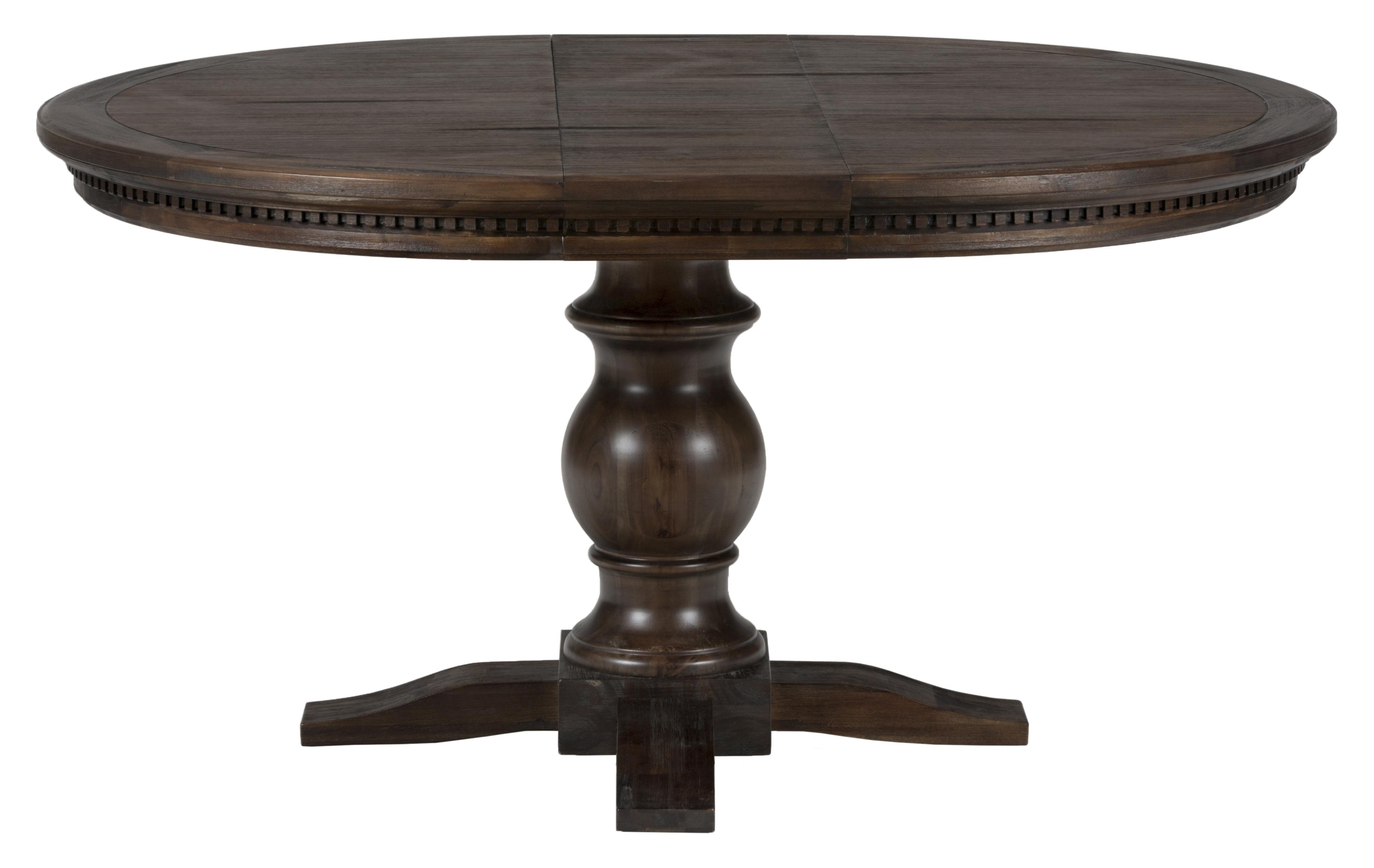 Jofran Geneva Hills Round To Oval Table With Pedestal Base Furniture And Ap