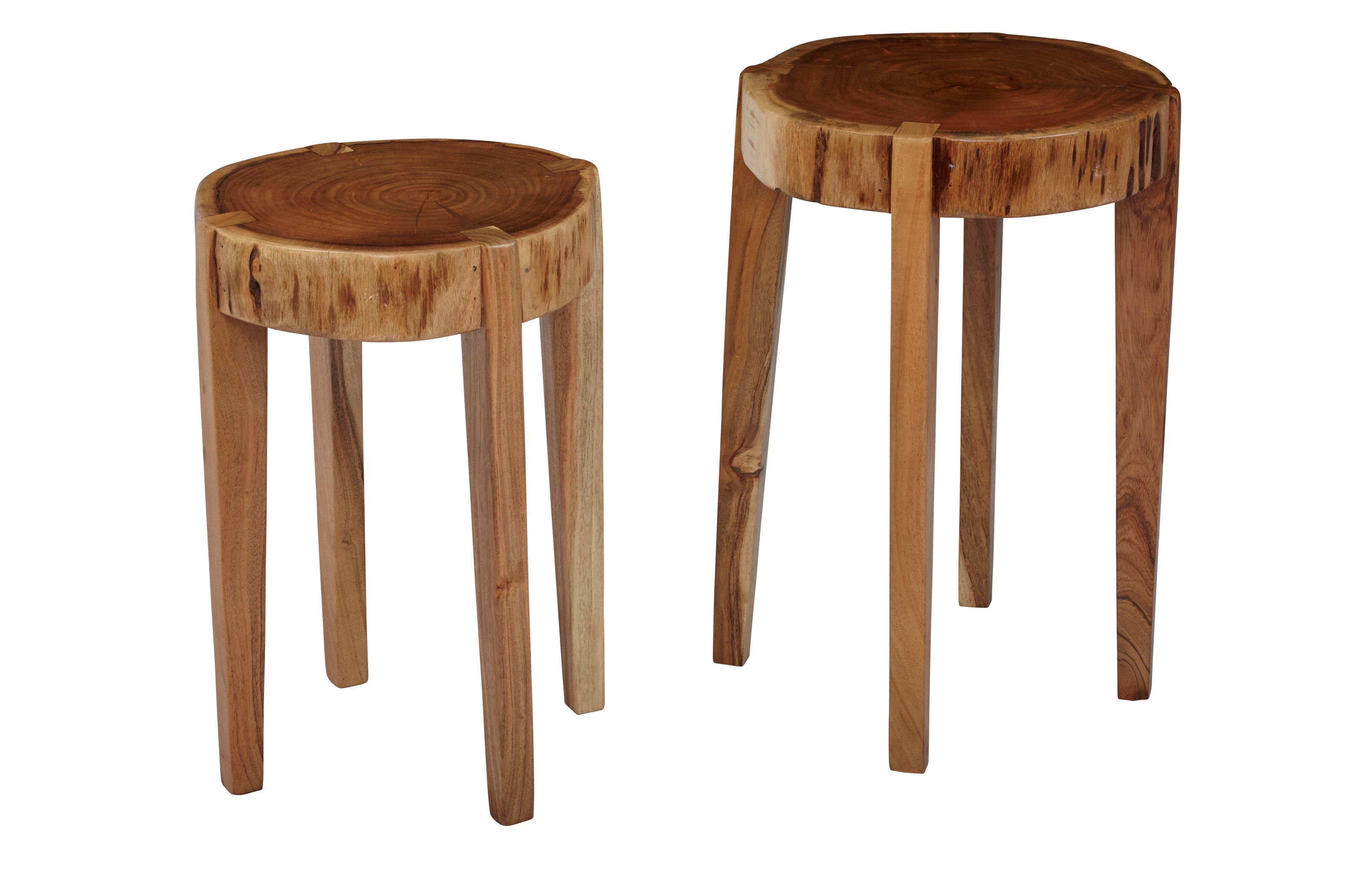 Global Archive All Wood Accent Tables (Set of 2) by Jofran at Jofran