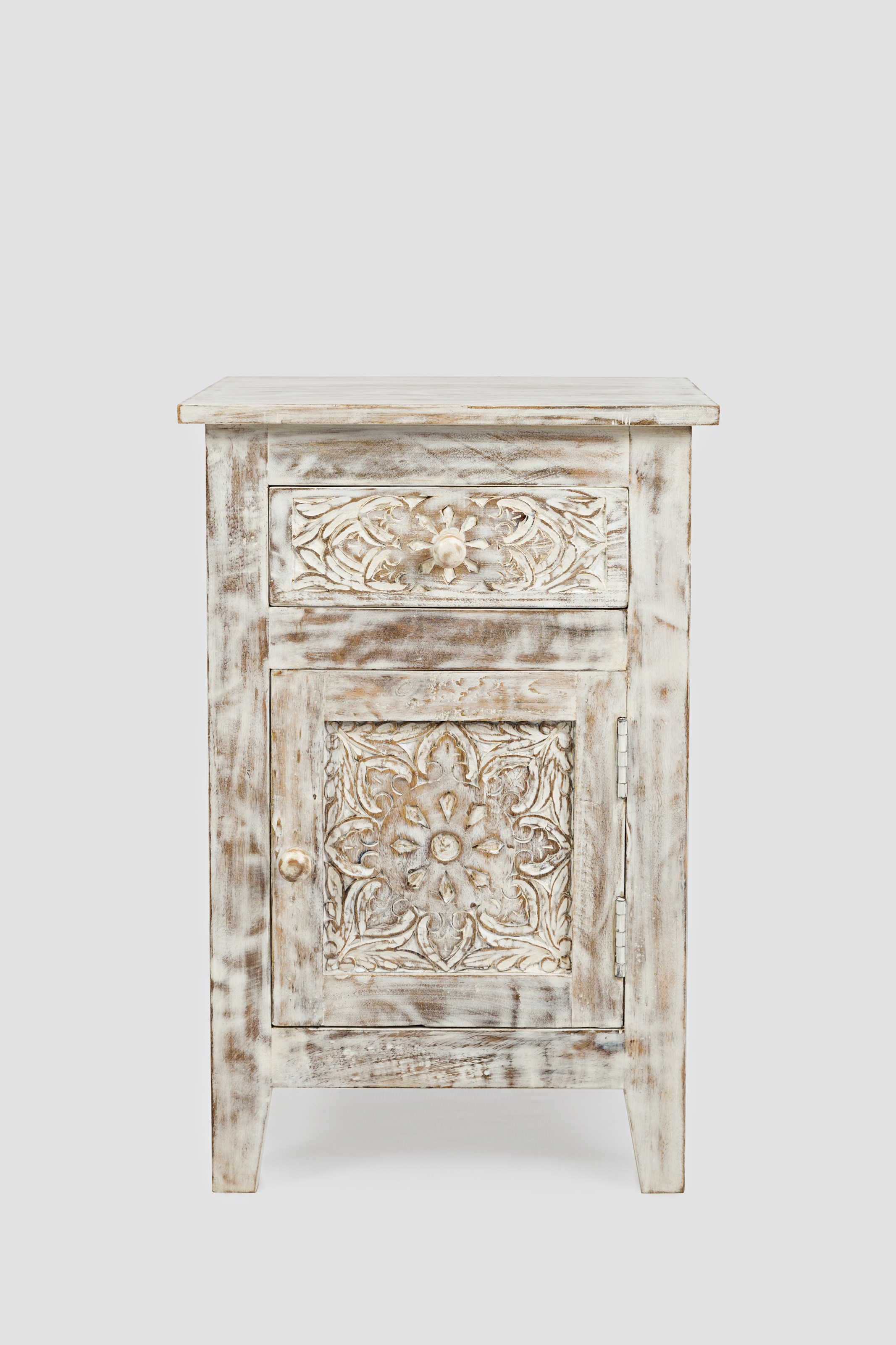 Global Archive Hand Carved Accent Table by Jo Furniture Co. at Ruby Gordon Home