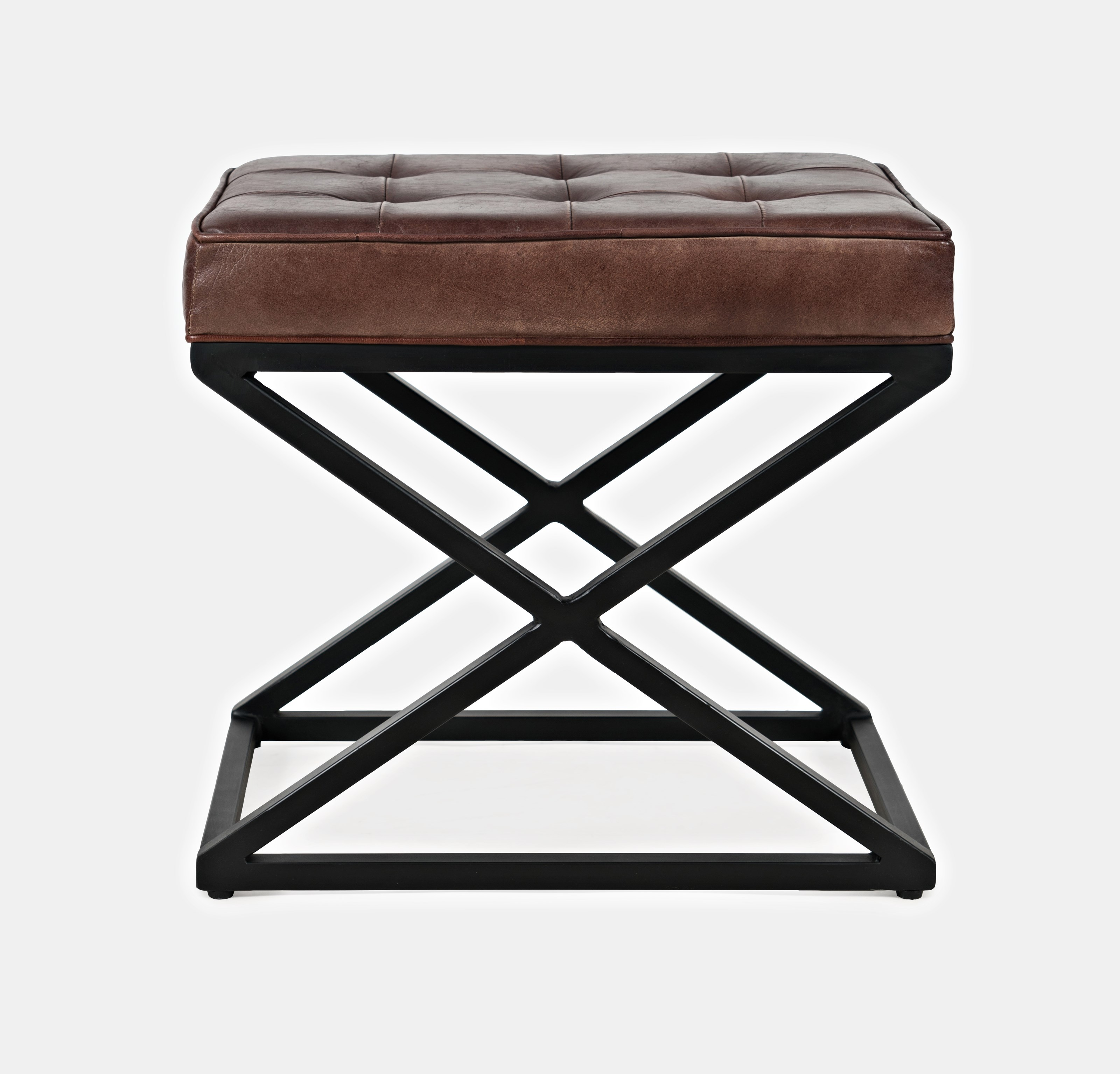 Global Archive Hogan Ottoman by Jo Furniture Co. at Ruby Gordon Home