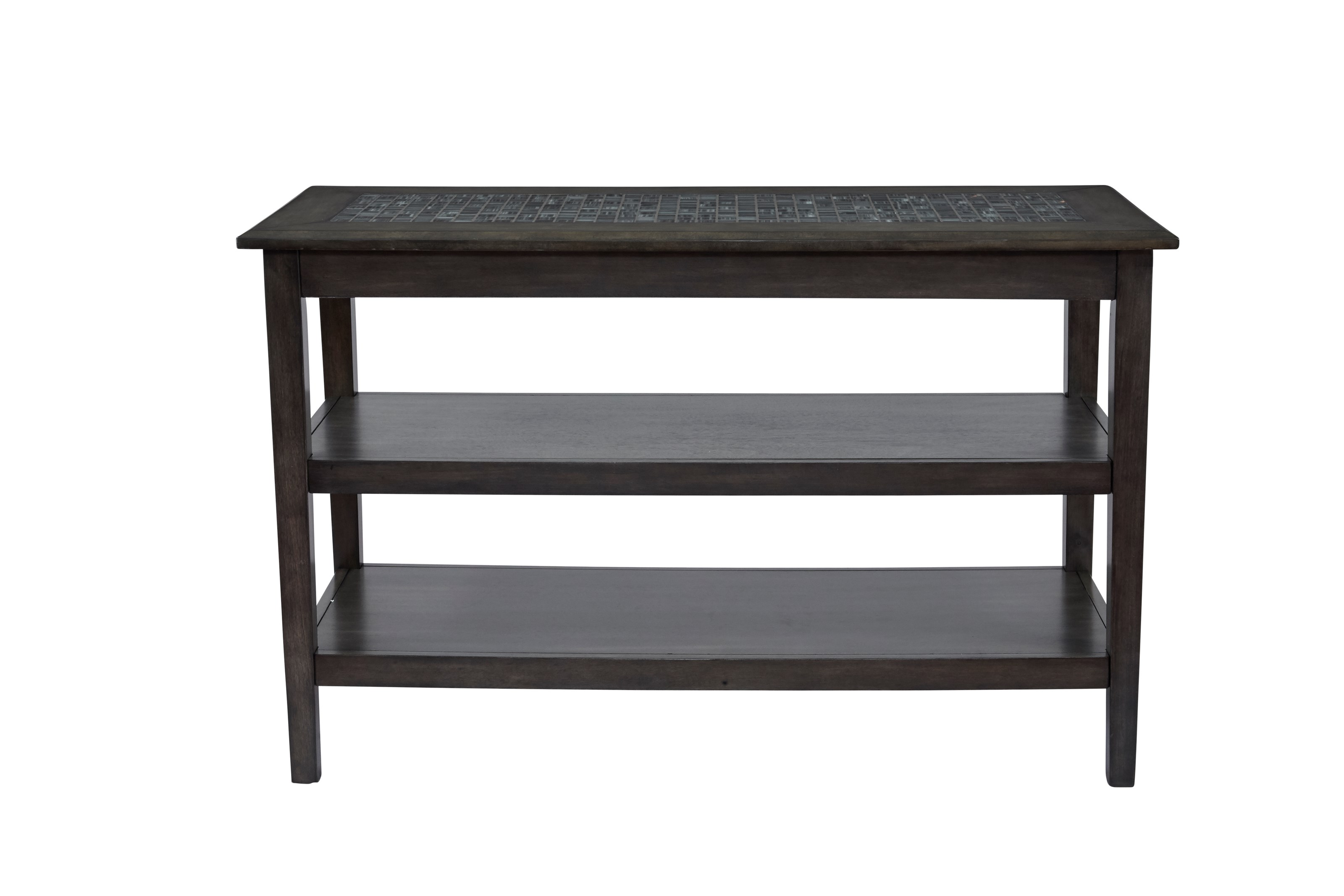 Jofran grey mosaic 1798 4 sofa media table furniture and for Jofran sofa table