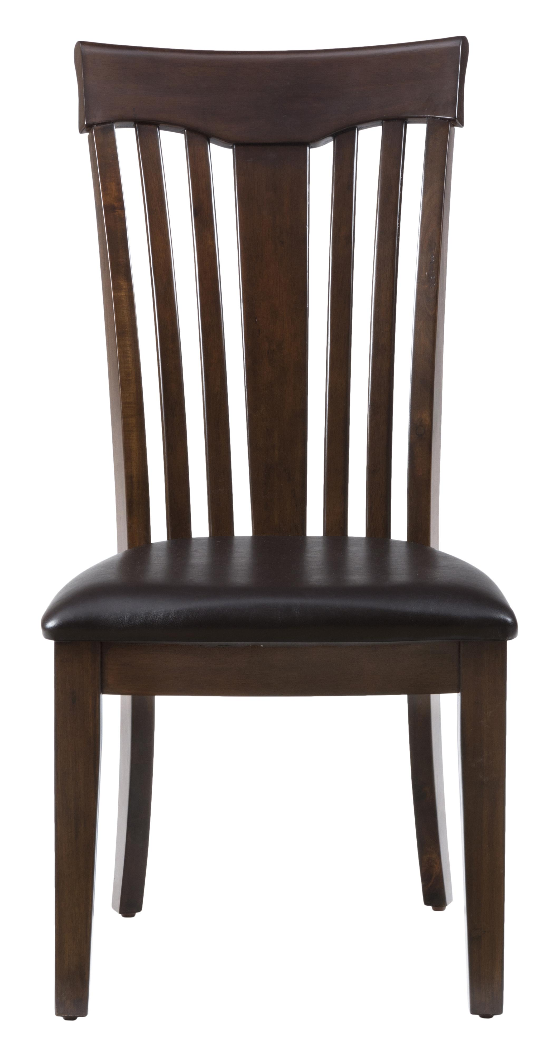 Slatted Back Chairs ~ Mila contoured slat back chair with padded cushion ruby