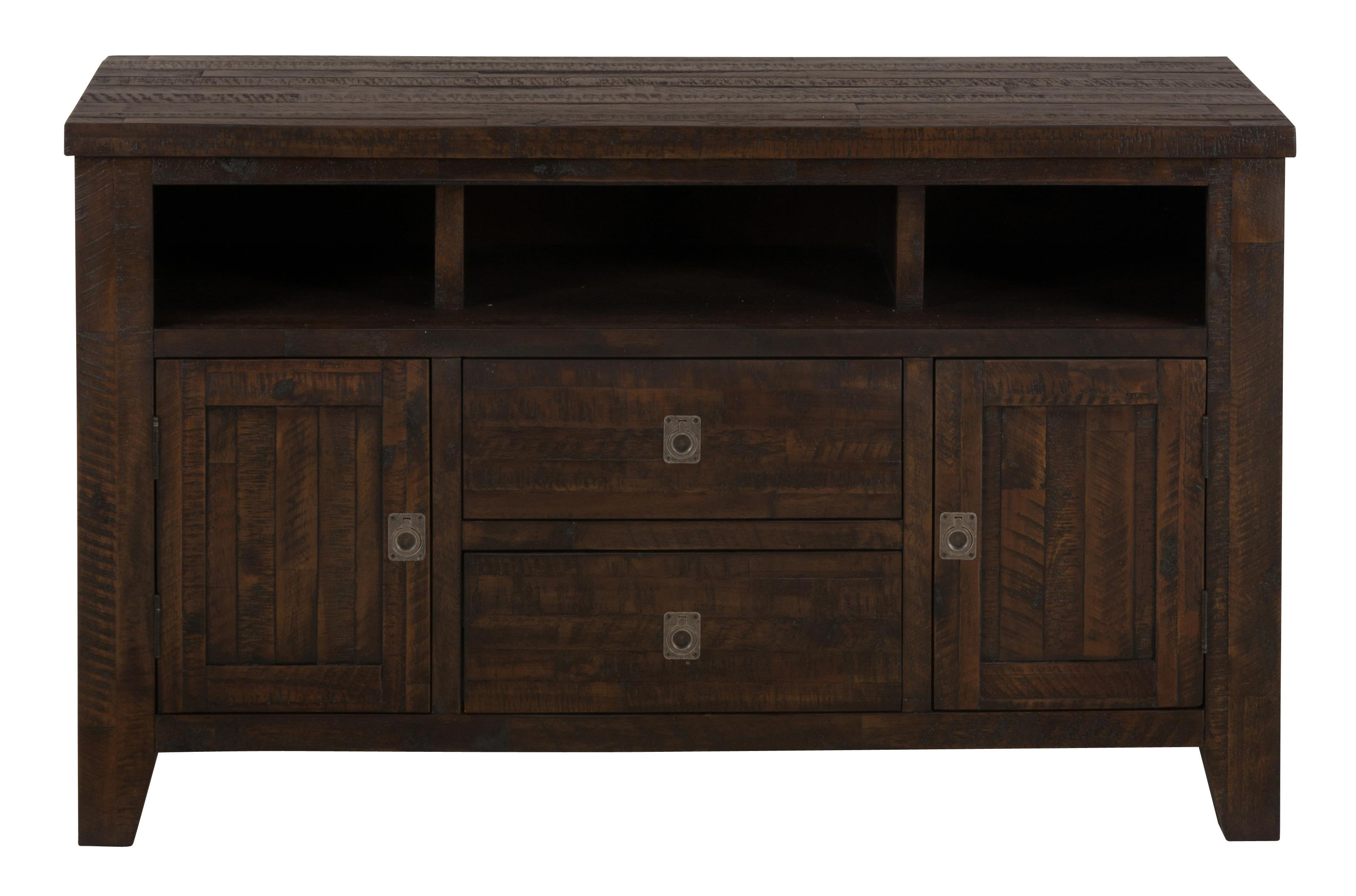 Jofran kona grove 706 50 50 media unit great american for American furniture warehouse tv stands