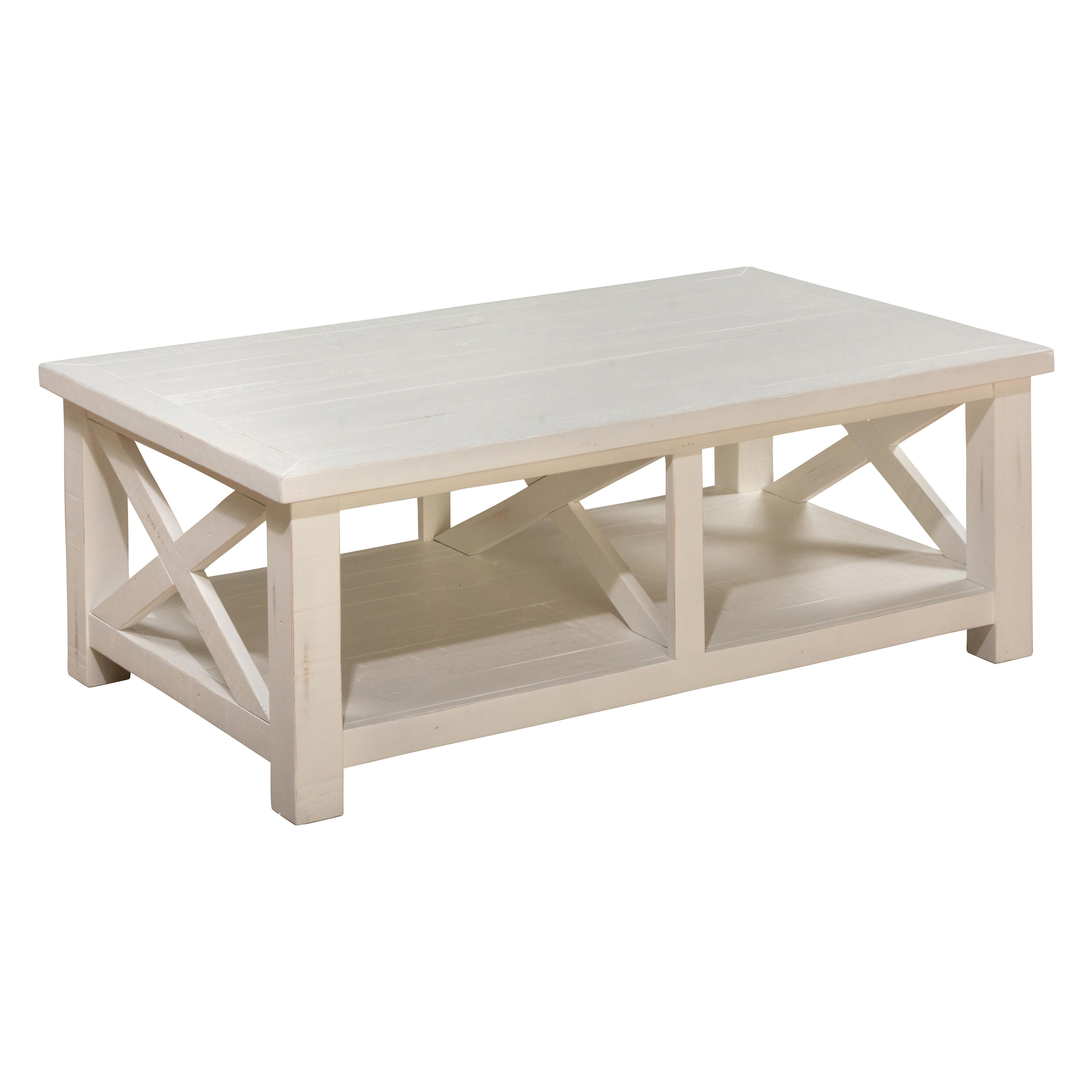 Jofran madaket 649 1 reclaimed pine cocktail table for Pine coffee table with storage