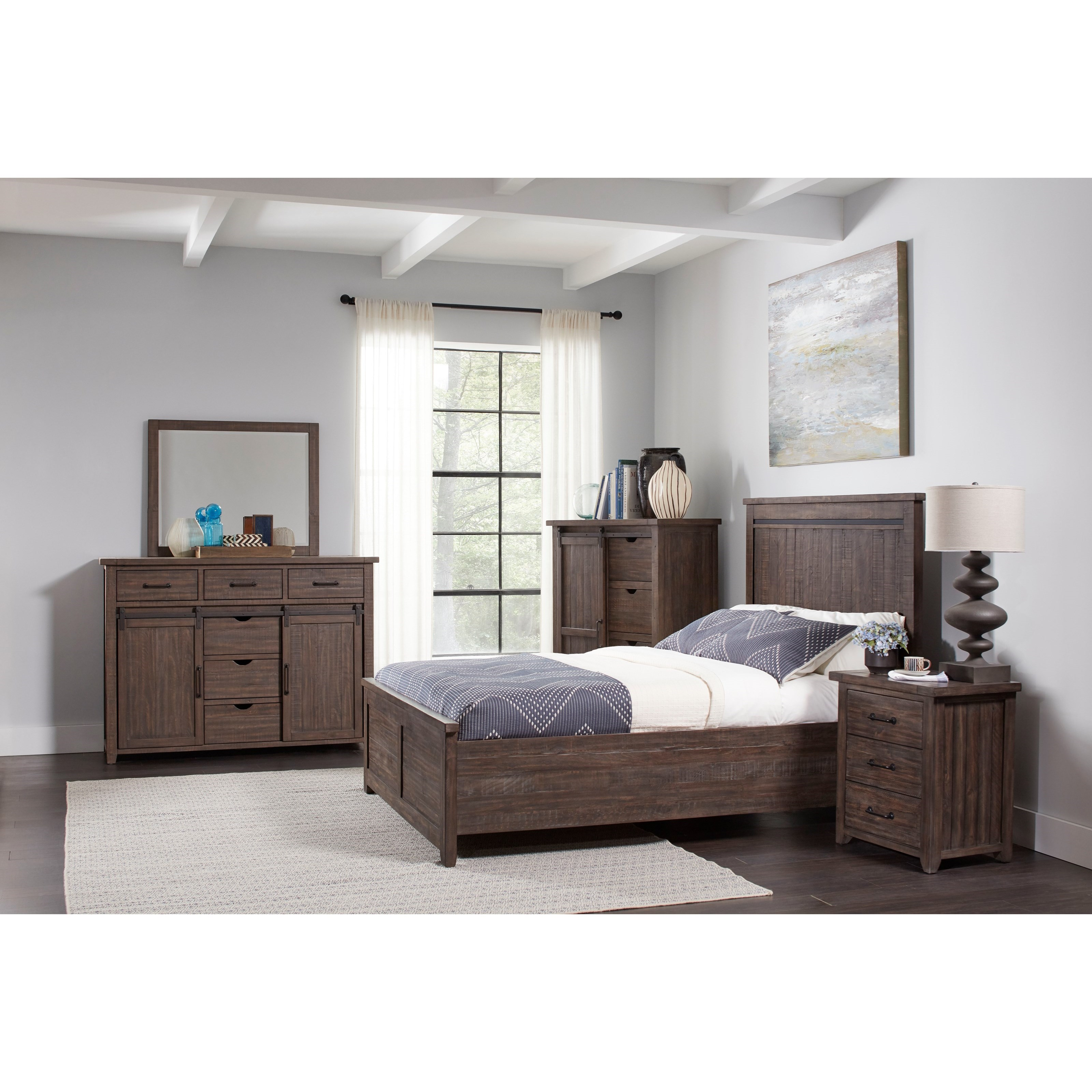 Madison County Queen Bedroom Group by Jofran at Lapeer Furniture & Mattress Center