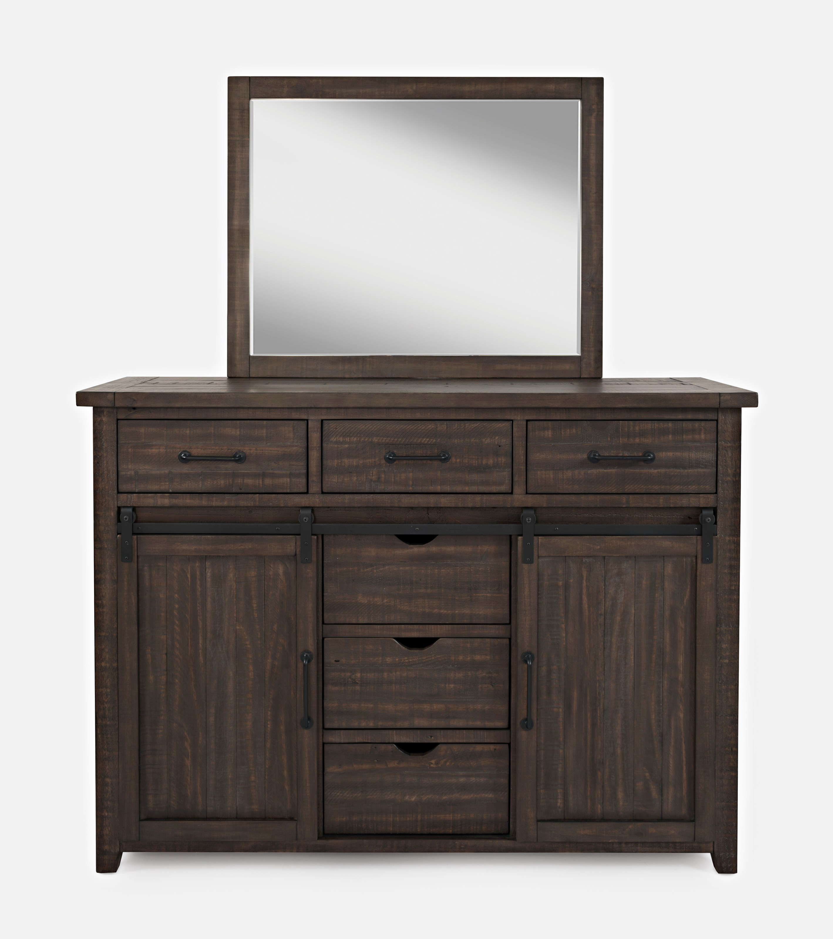 Madison County Dresser and Mirror by Jofran at Mueller Furniture