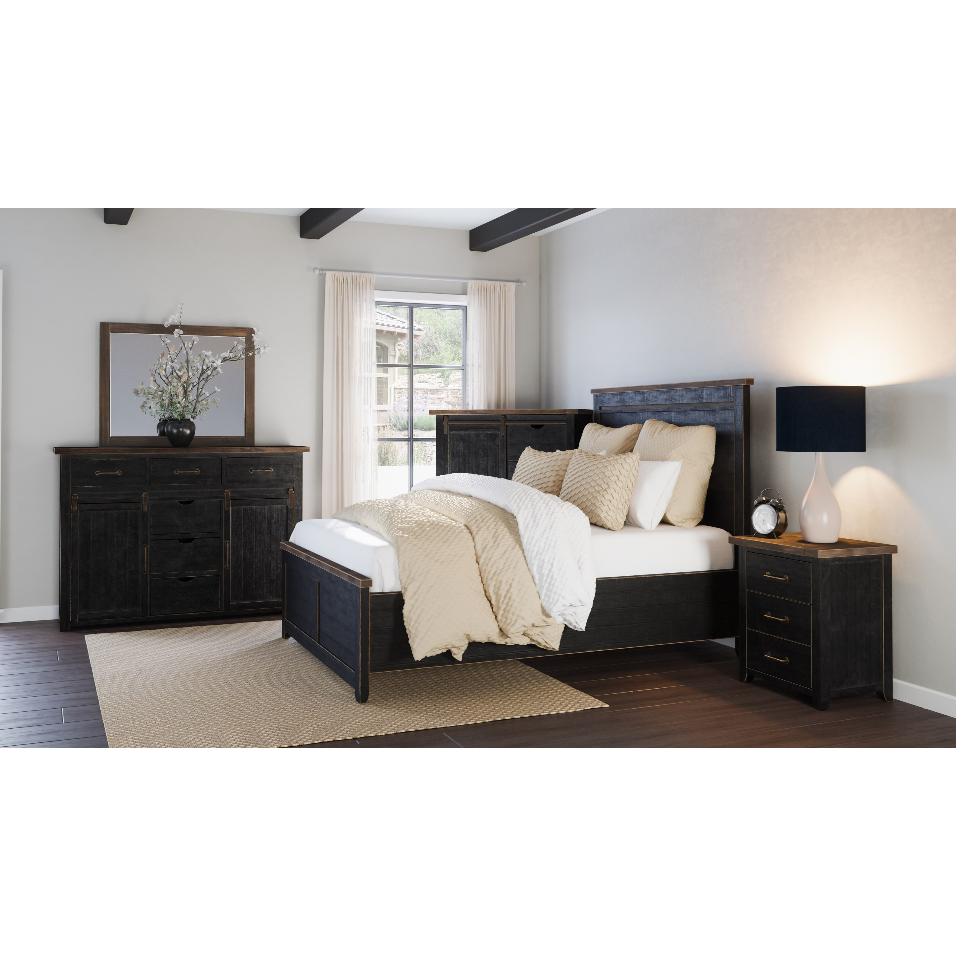 Madison County Queen Bedroom Group by Jofran at Jofran