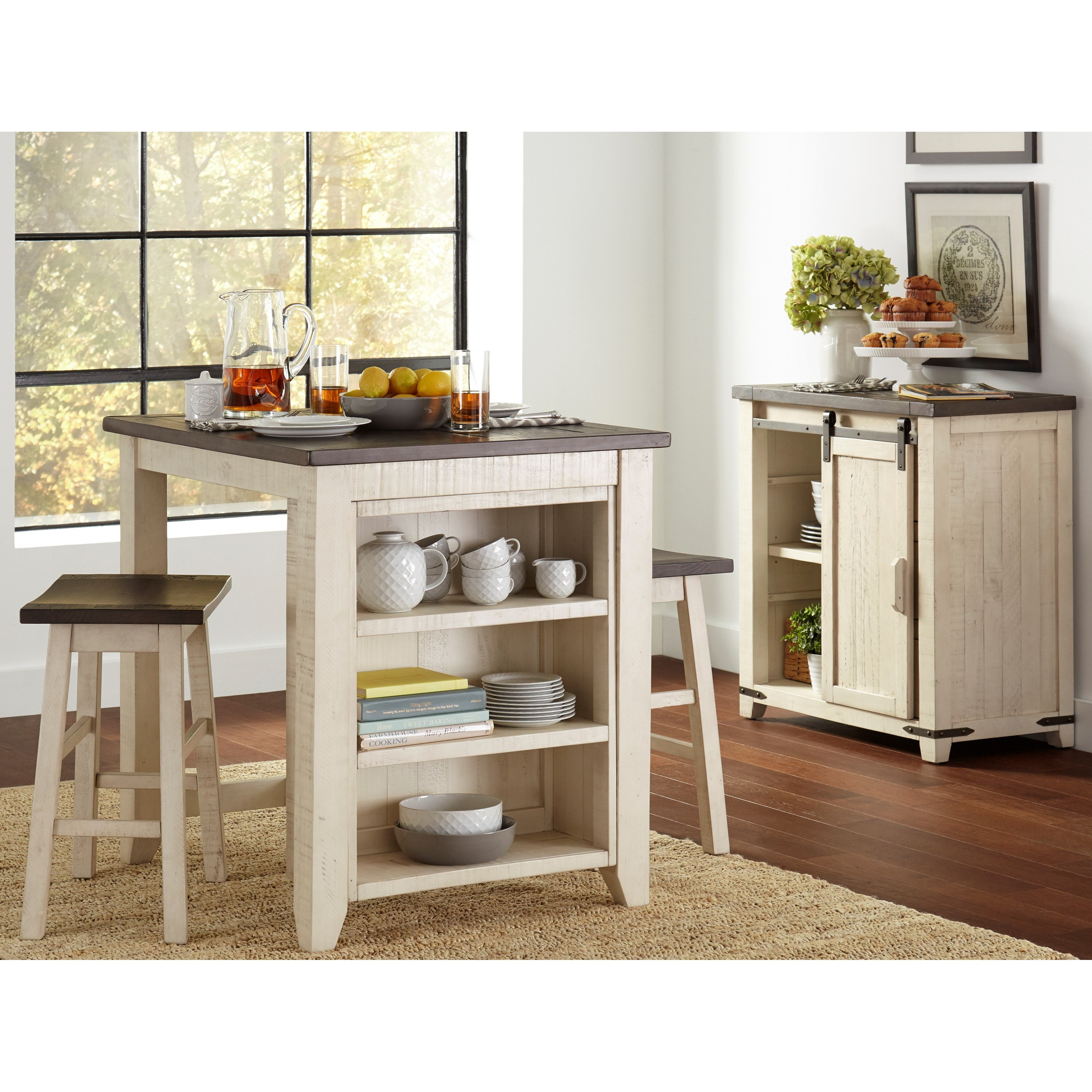 Madison County 3 Piece Counter Height Table Set by Jofran at Furniture and ApplianceMart