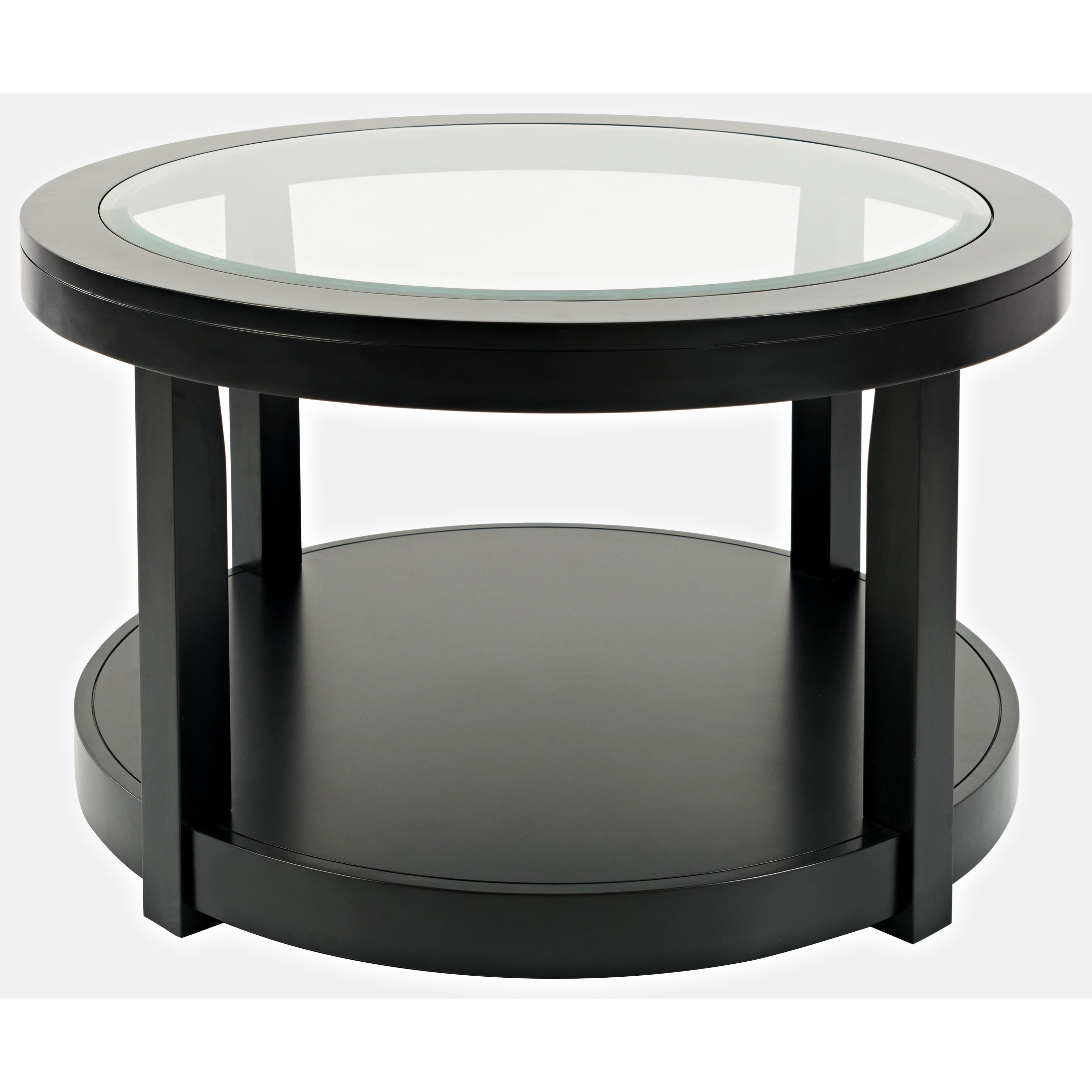 Icon Black Round Castered Cocktail Table at Walker's Furniture