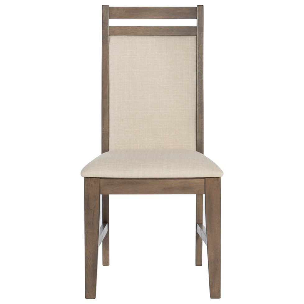 John thomas luxe contemporary upholstered dining side for Upholstered dining chairs contemporary