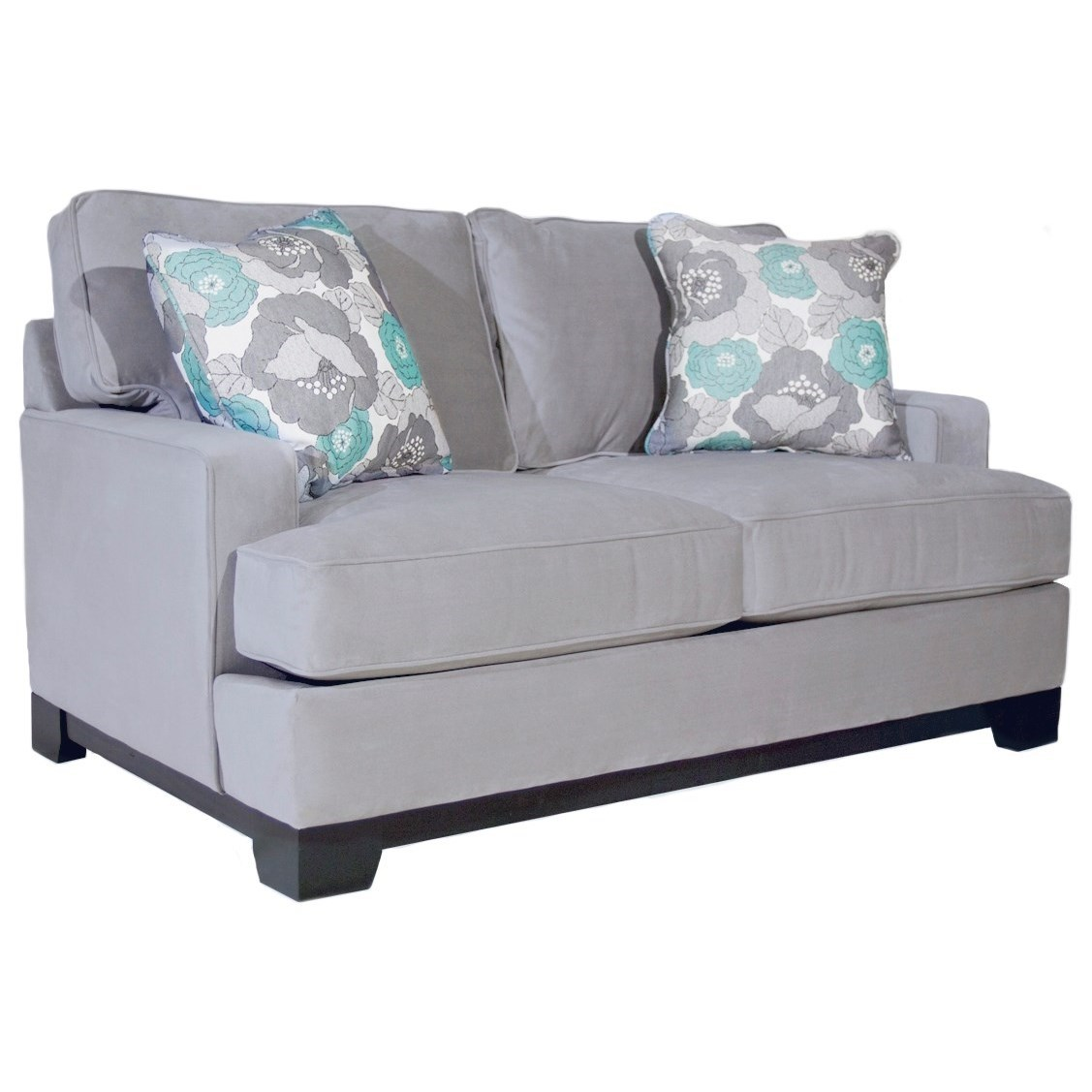 Jonathan Louis Kronos Contemporary Loveseat With Track Arms Bennett 39 S Home Furnishings Love