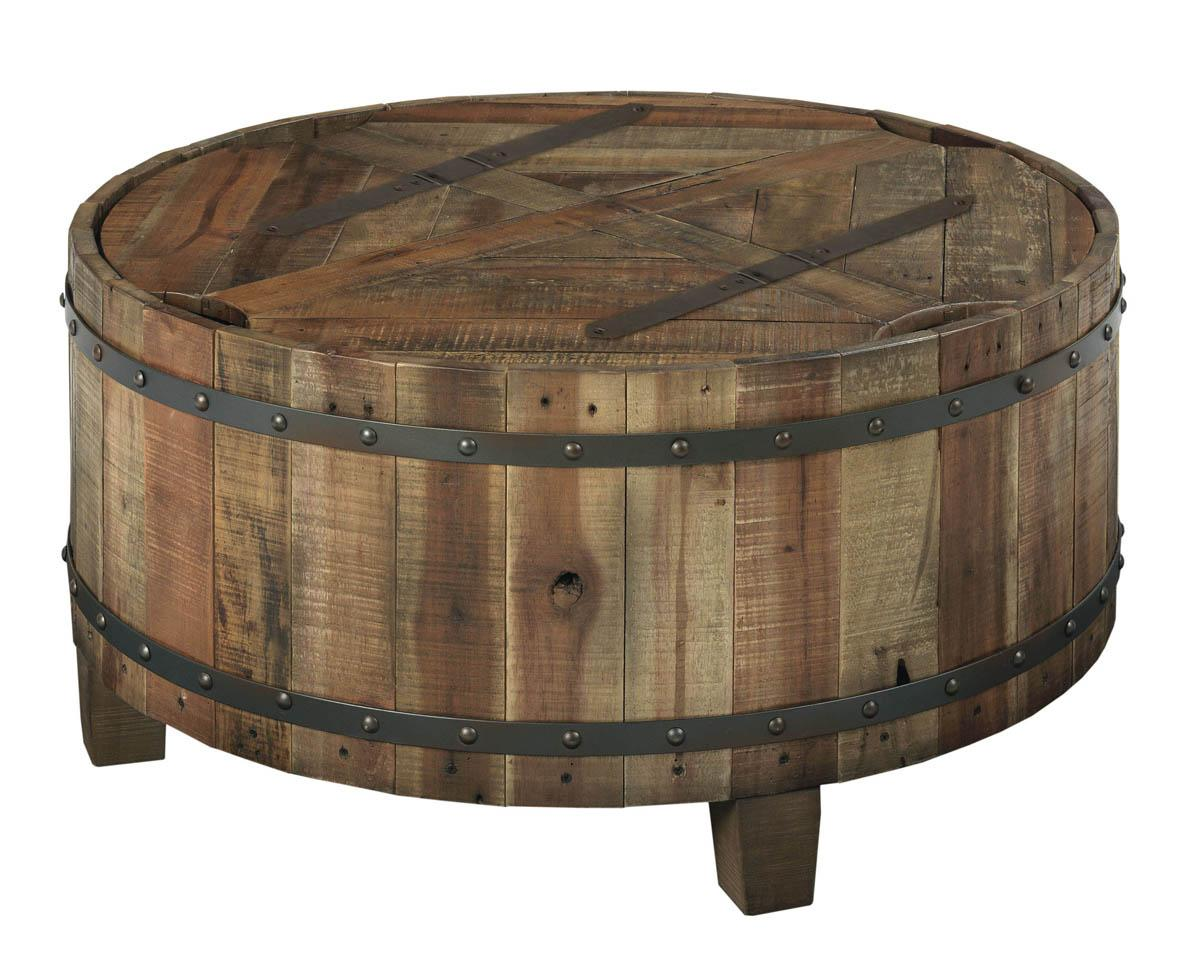 Kincaid Furniture Artisans Shoppe Accents 90 3319 Round Reclaimed Wood Cocktail Table Hudson 39 S