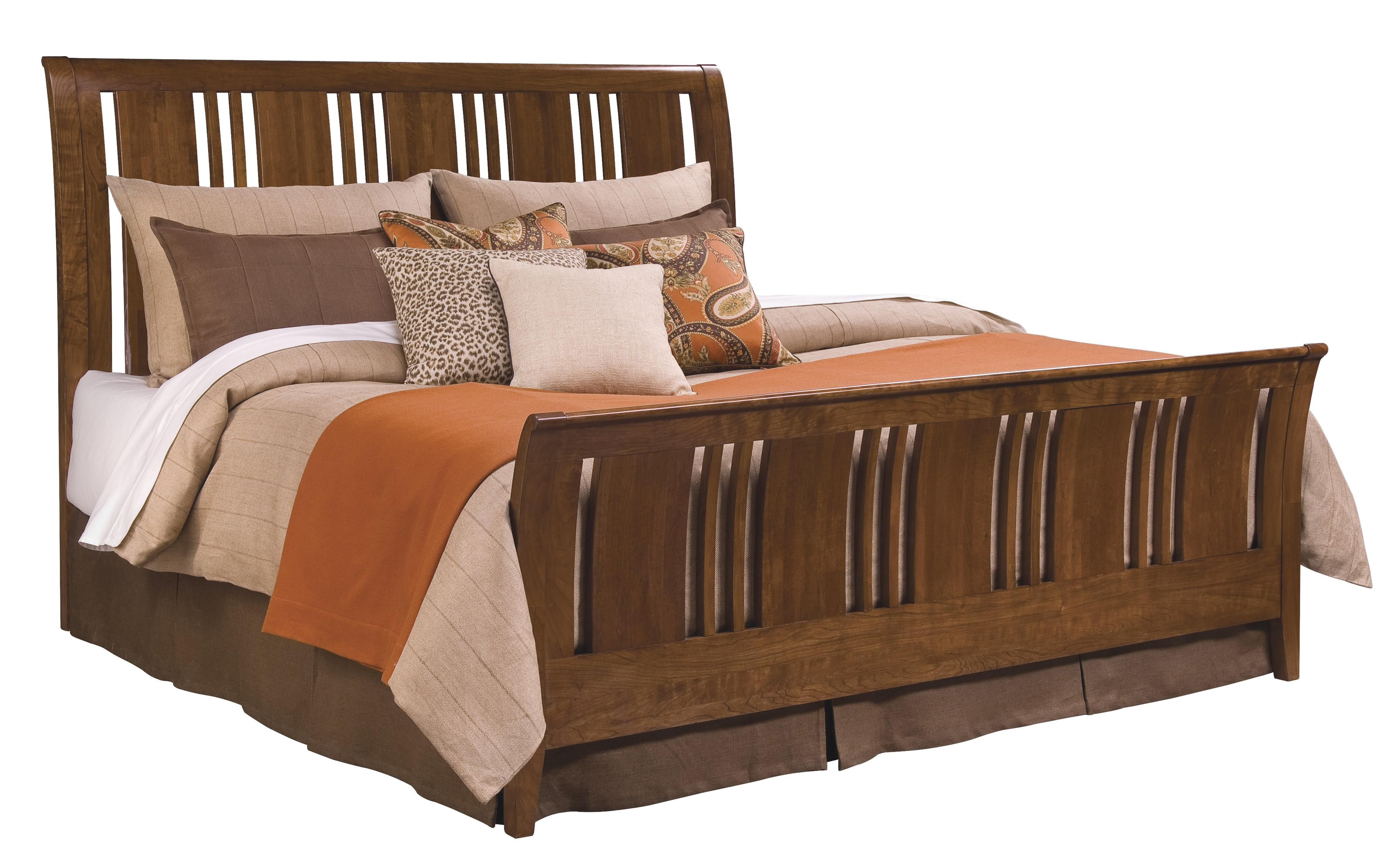 Kincaid Furniture Cherry Park King Slat Sleigh Bed Olinde 39 S Furniture Sleigh Beds