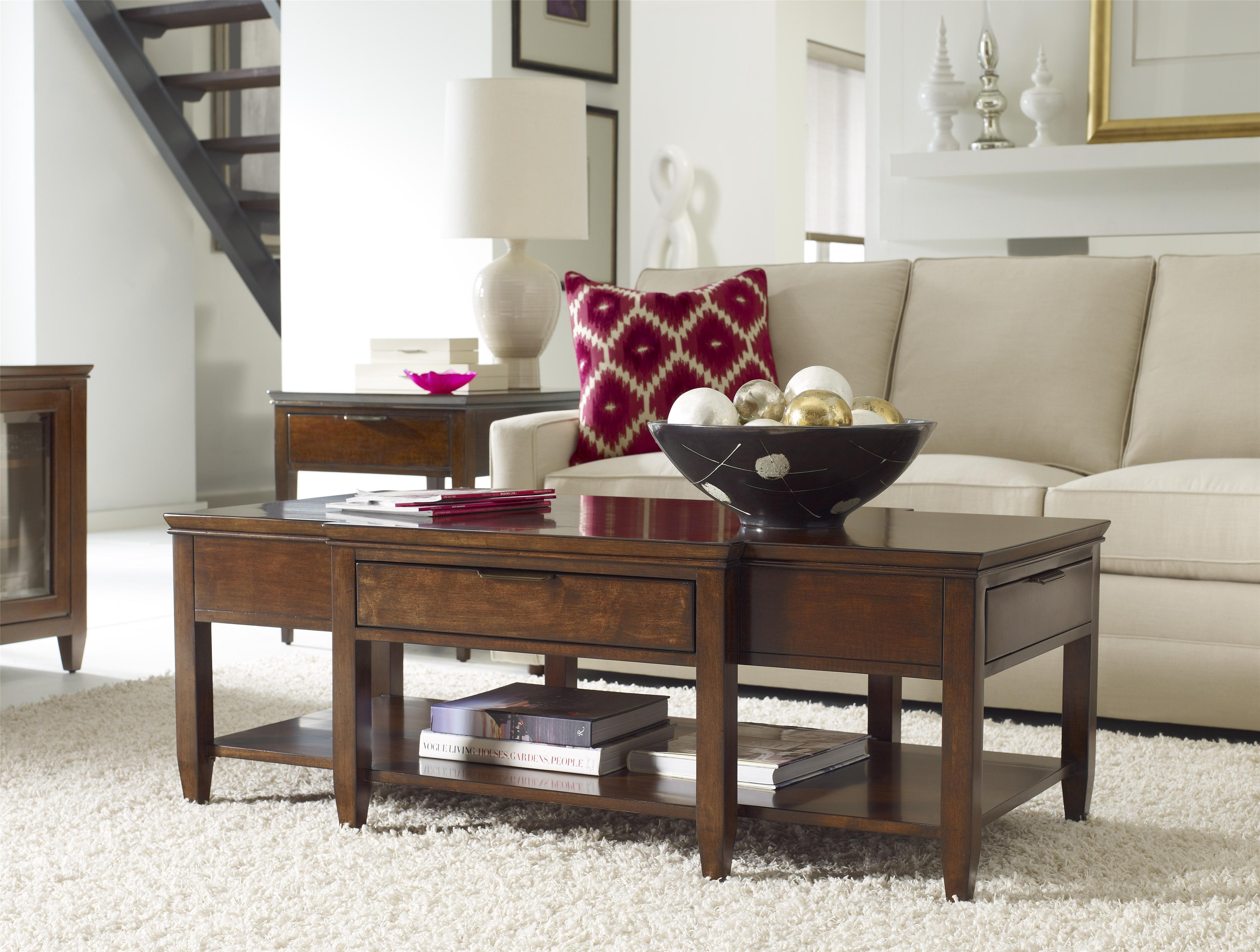 Kincaid furniture elise 77 023 transitional elise cocktail for Hudsons furniture