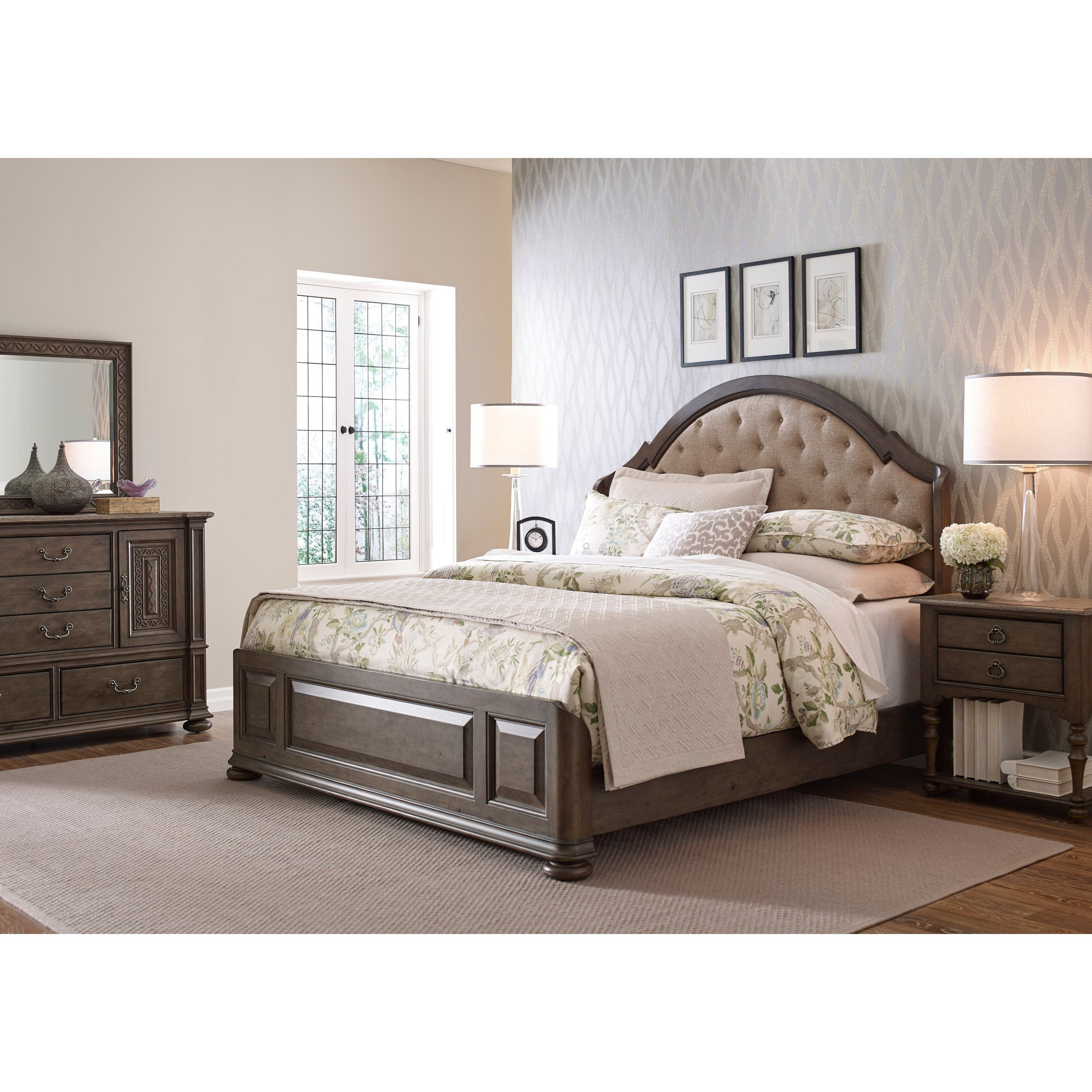 Kincaid furniture greyson king bedroom group johnny for Bedroom furniture groups