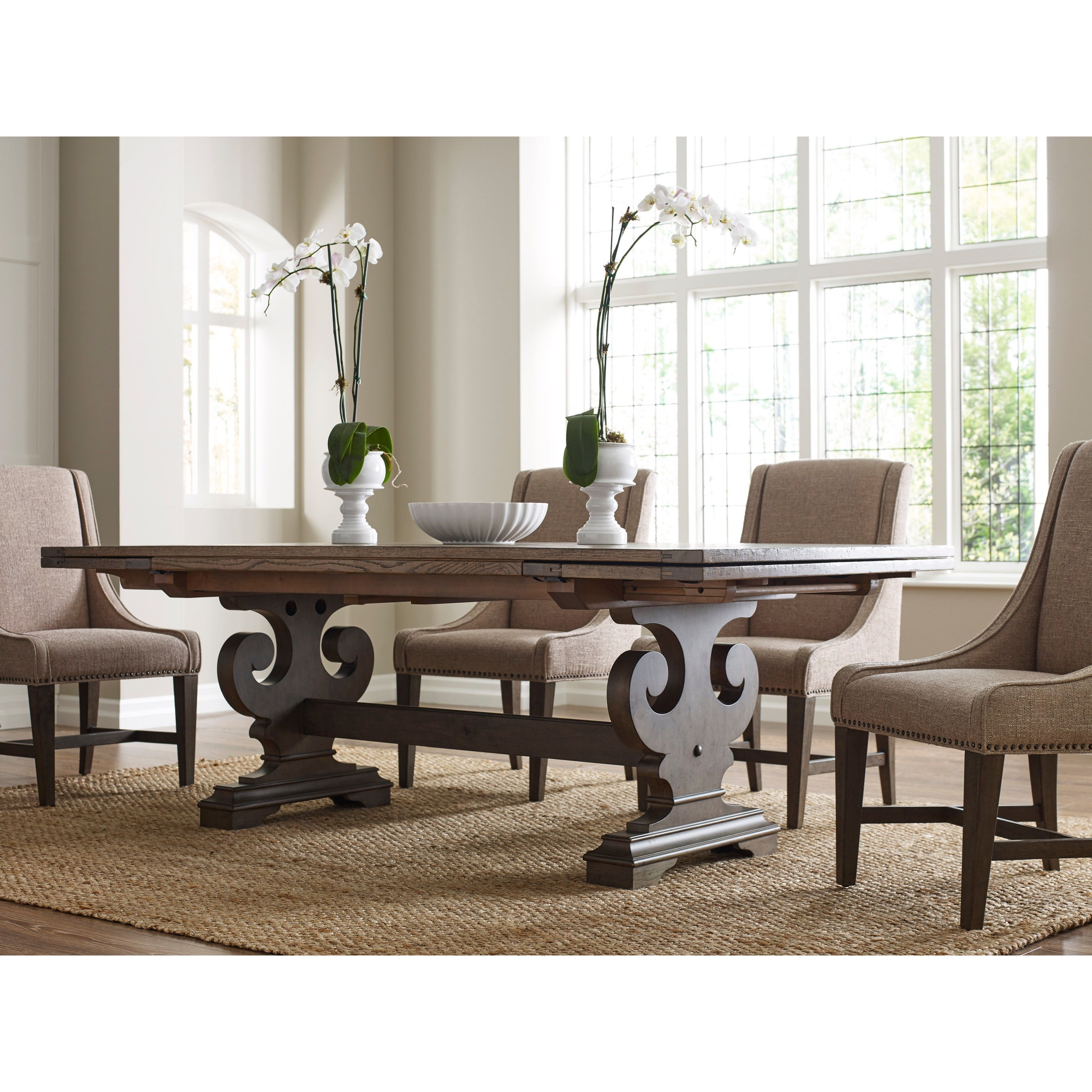 Kincaid furniture greyson 608 744p crawford refectory for Greyson dining table