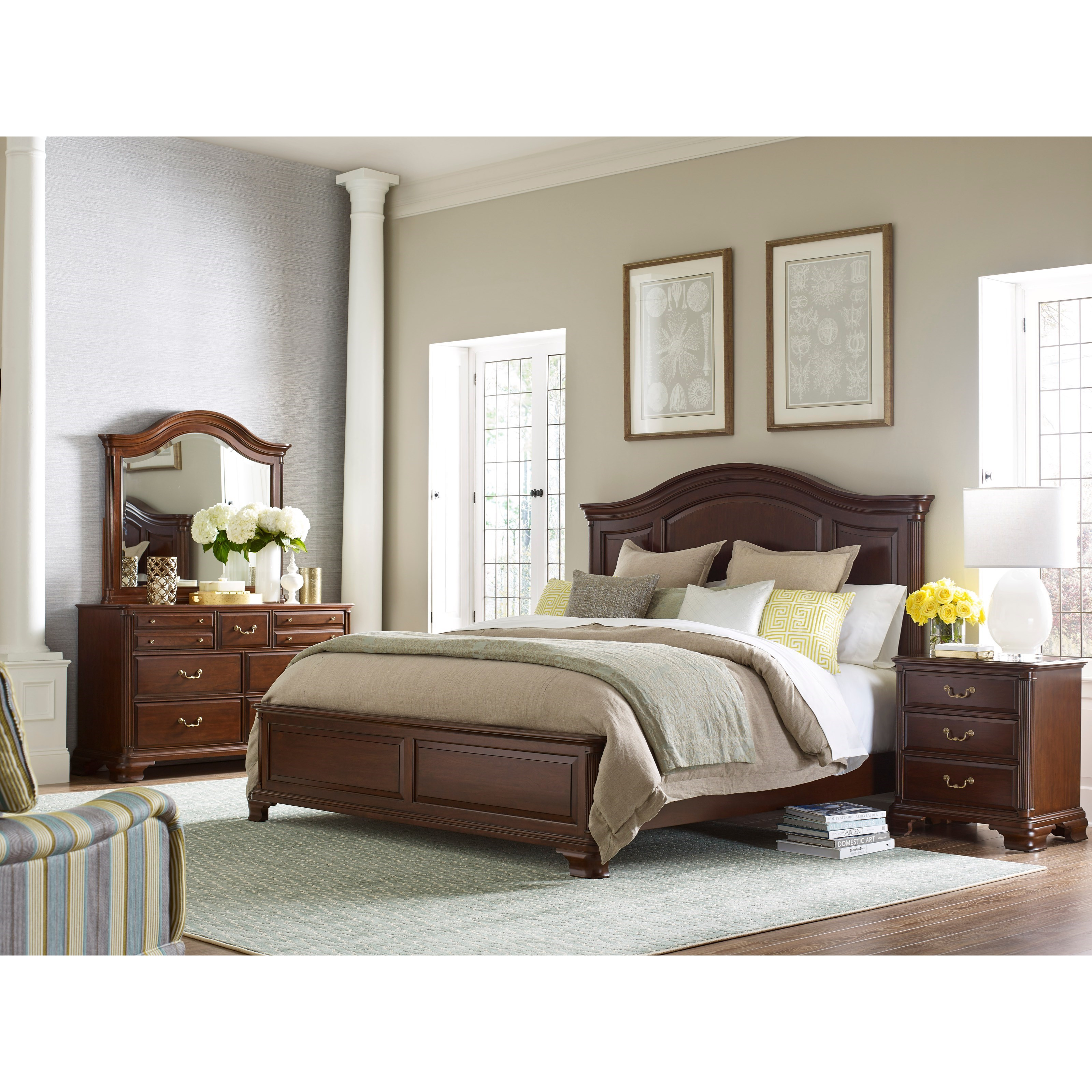 Kincaid furniture hadleigh queen bedroom group belfort for Bedroom furniture groups