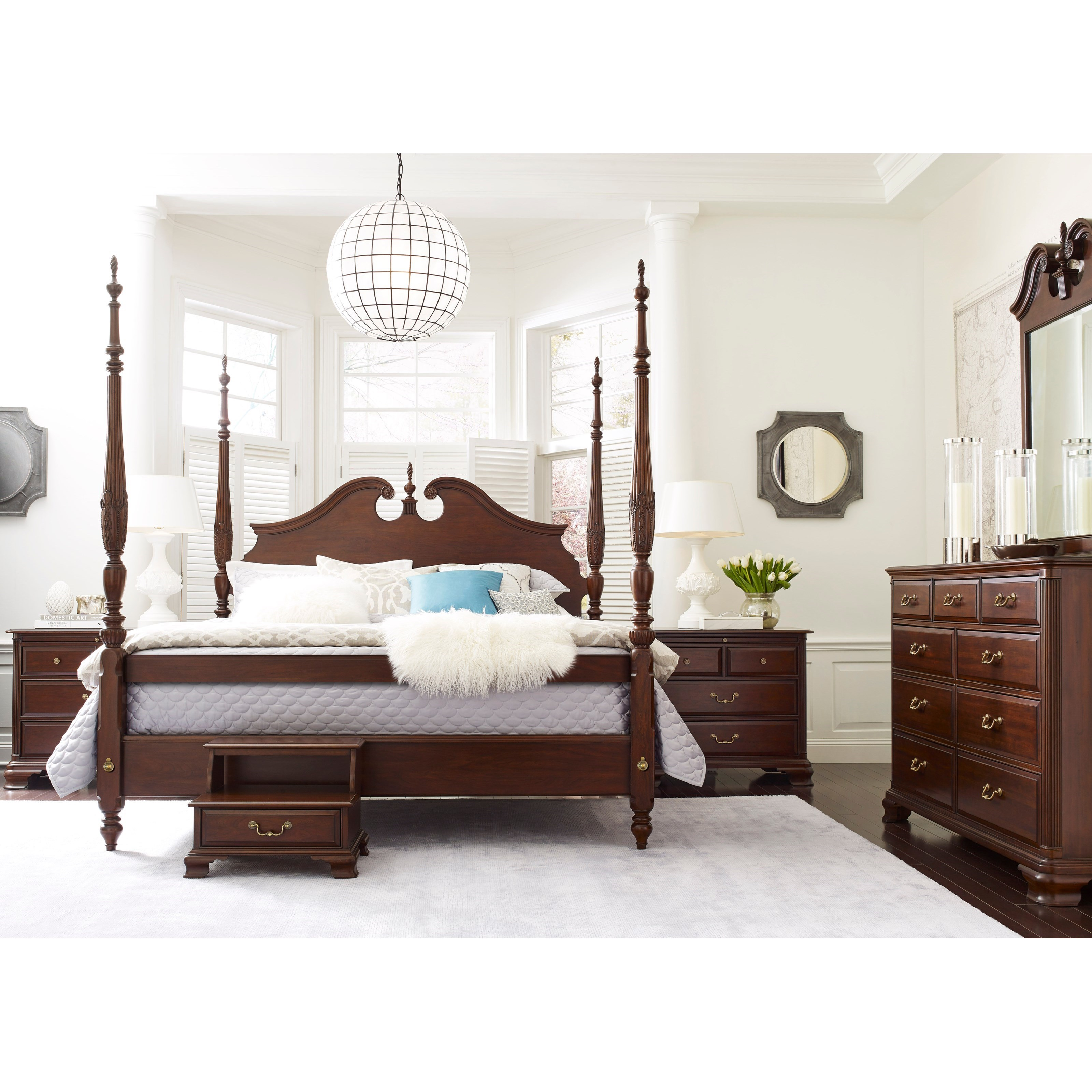 Kincaid furniture hadleigh 607 327p california king rice for Kincaid furniture