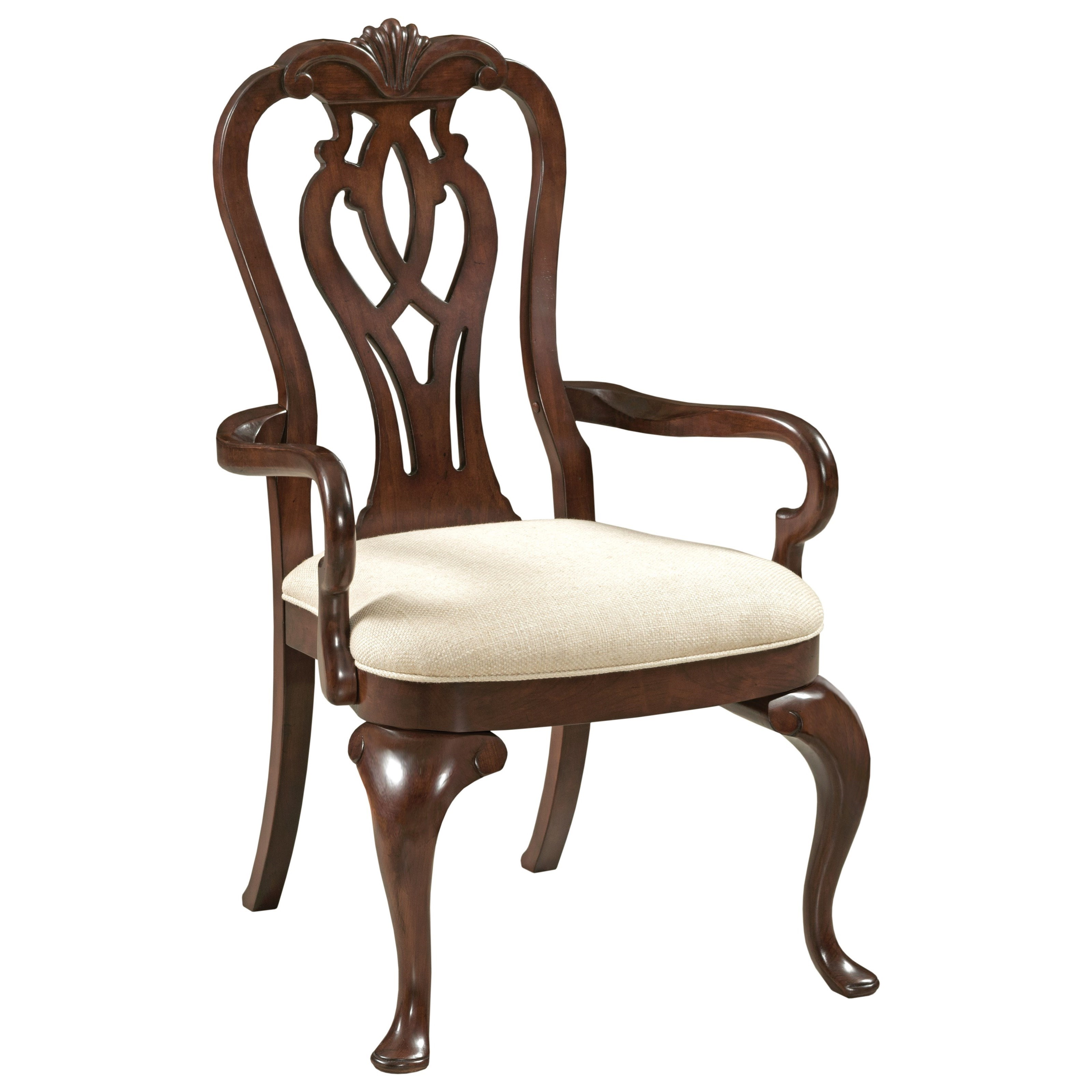 Kincaid furniture hadleigh 607 637 traditional queen anne for Queen anne furniture
