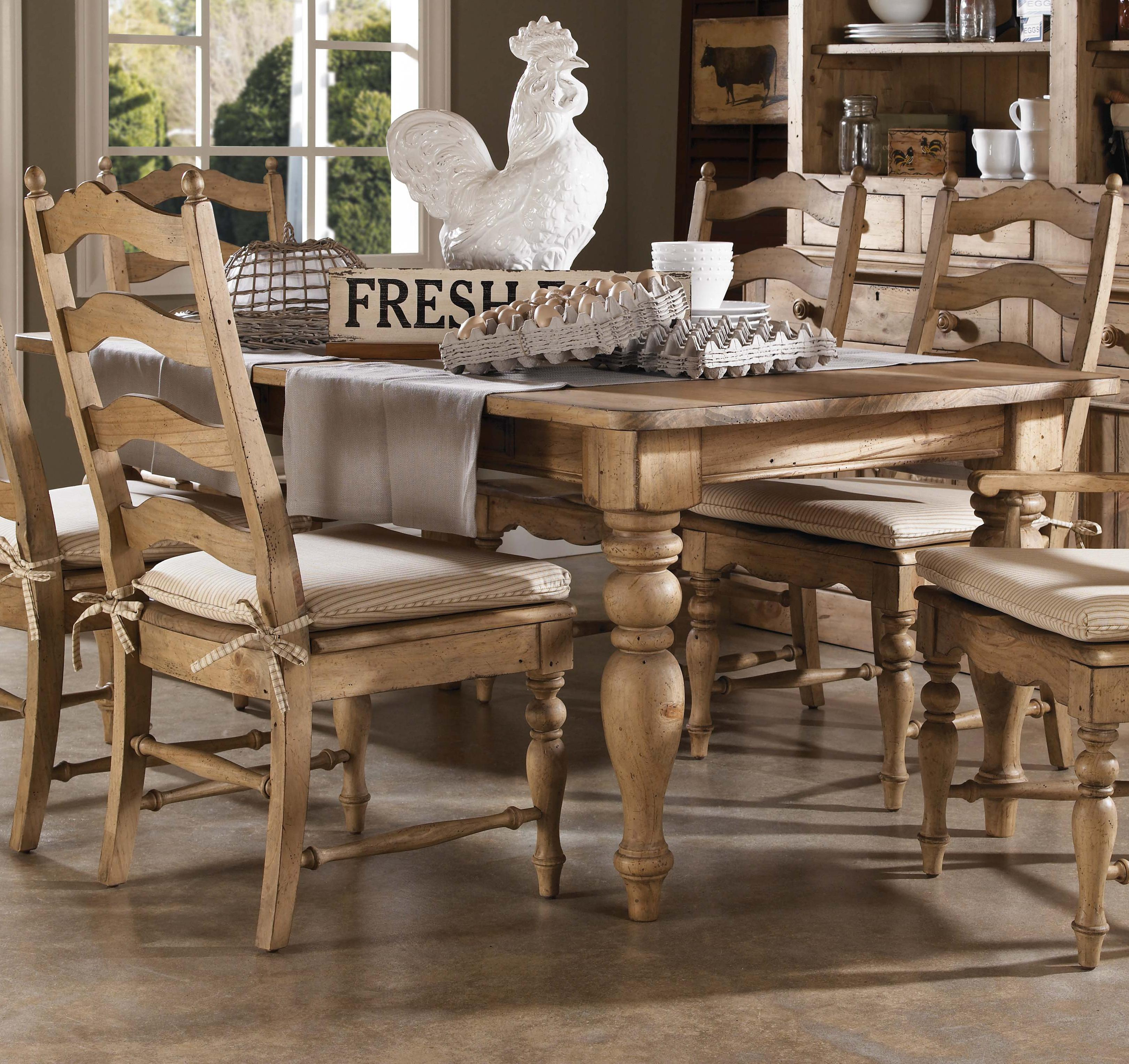 Home ing Farmhouse Leg Table with Four Drawers by Kincaid Furniture