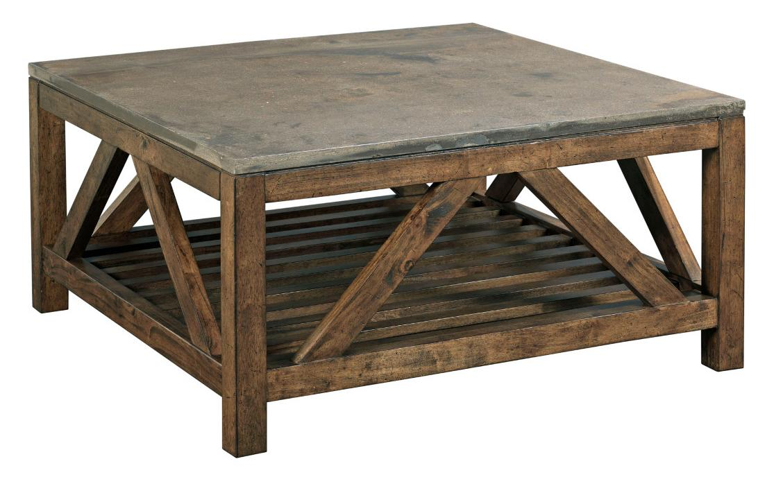 Industrial rustic square cocktail table with finished for Coffee tables york pa