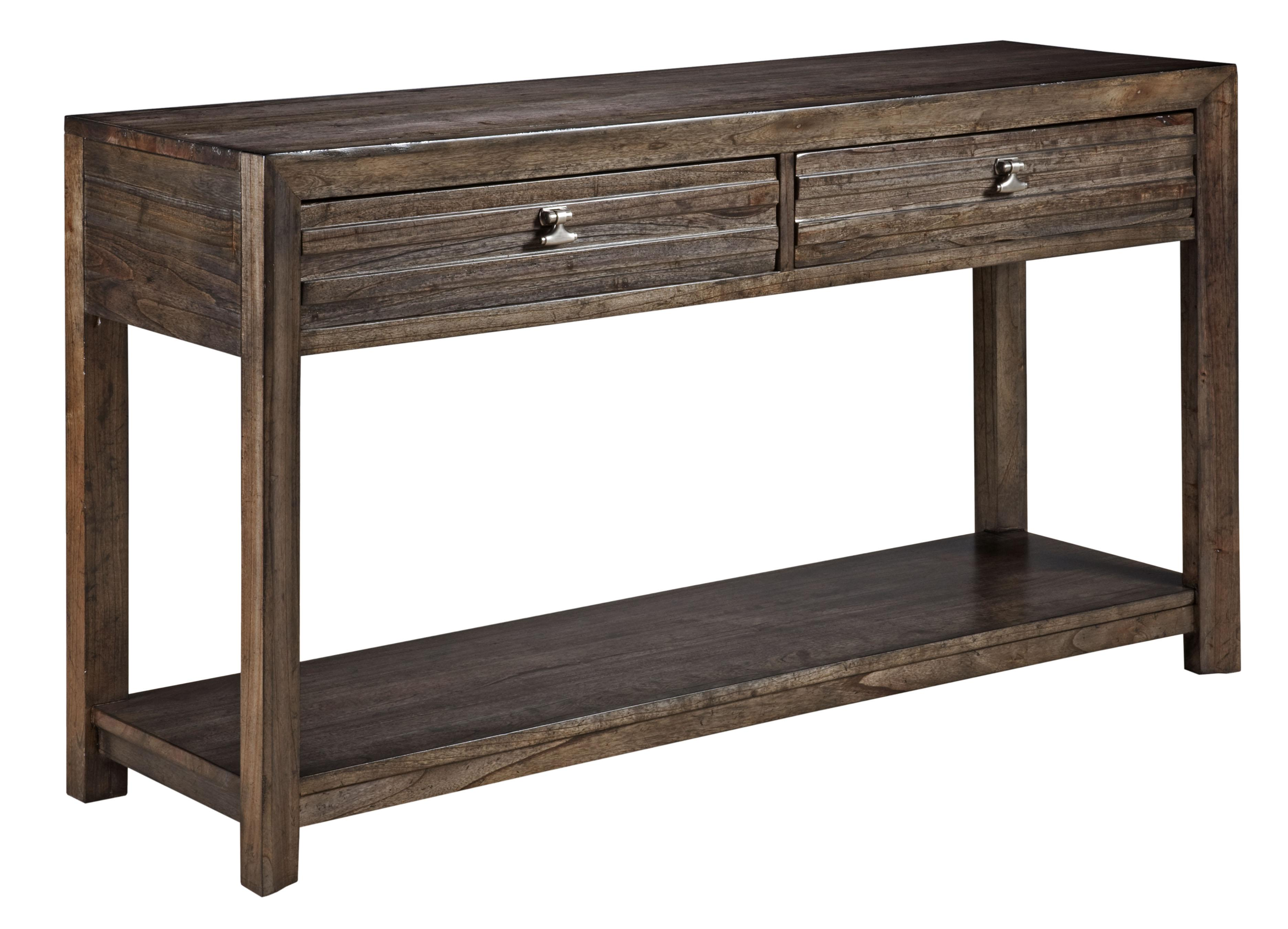 Kincaid Furniture Montreat 84 025 Contemporary Montreat Sofa Table With Grooved Mouldings And