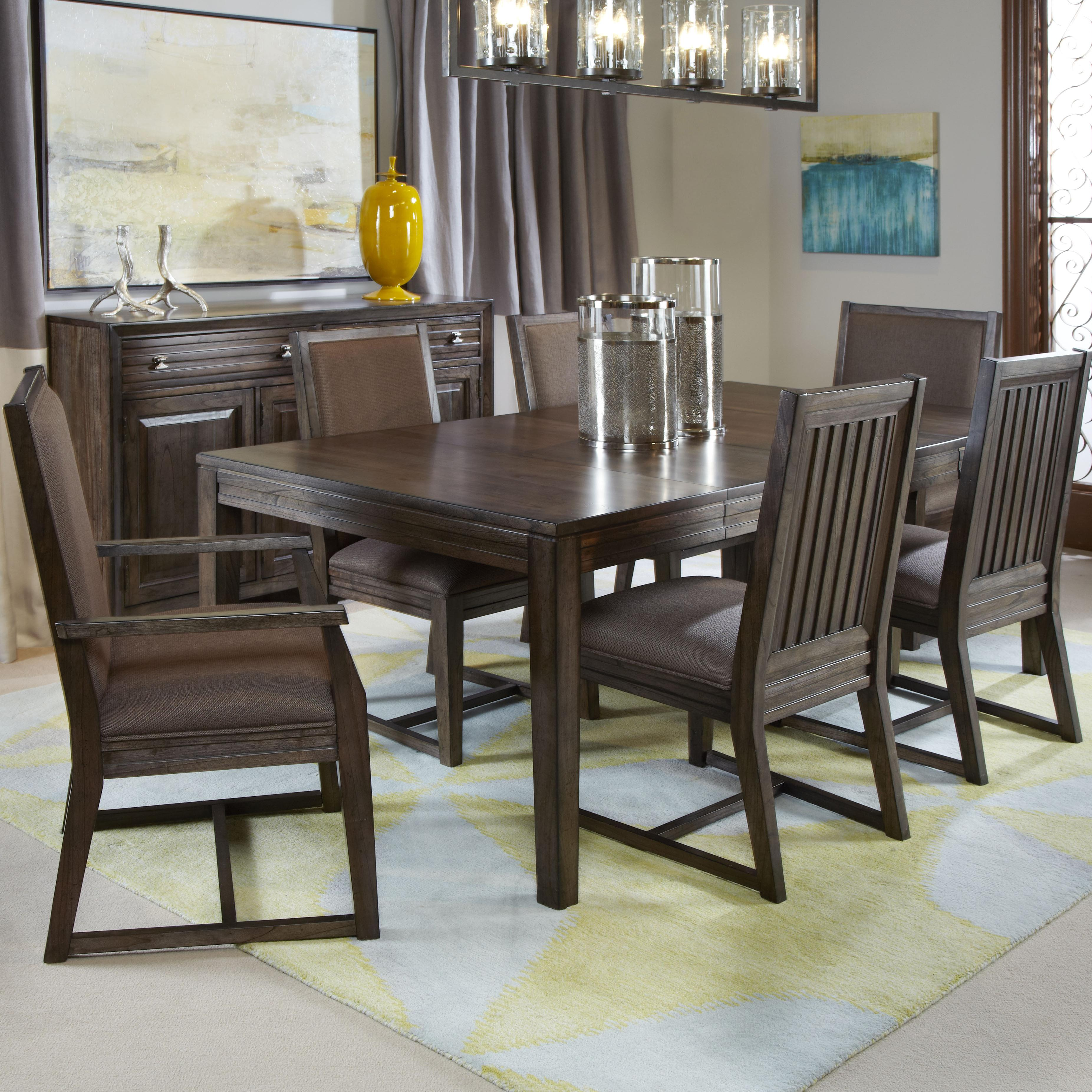 Kincaid furniture montreat seven piece formal dining set for Formal dining chairs