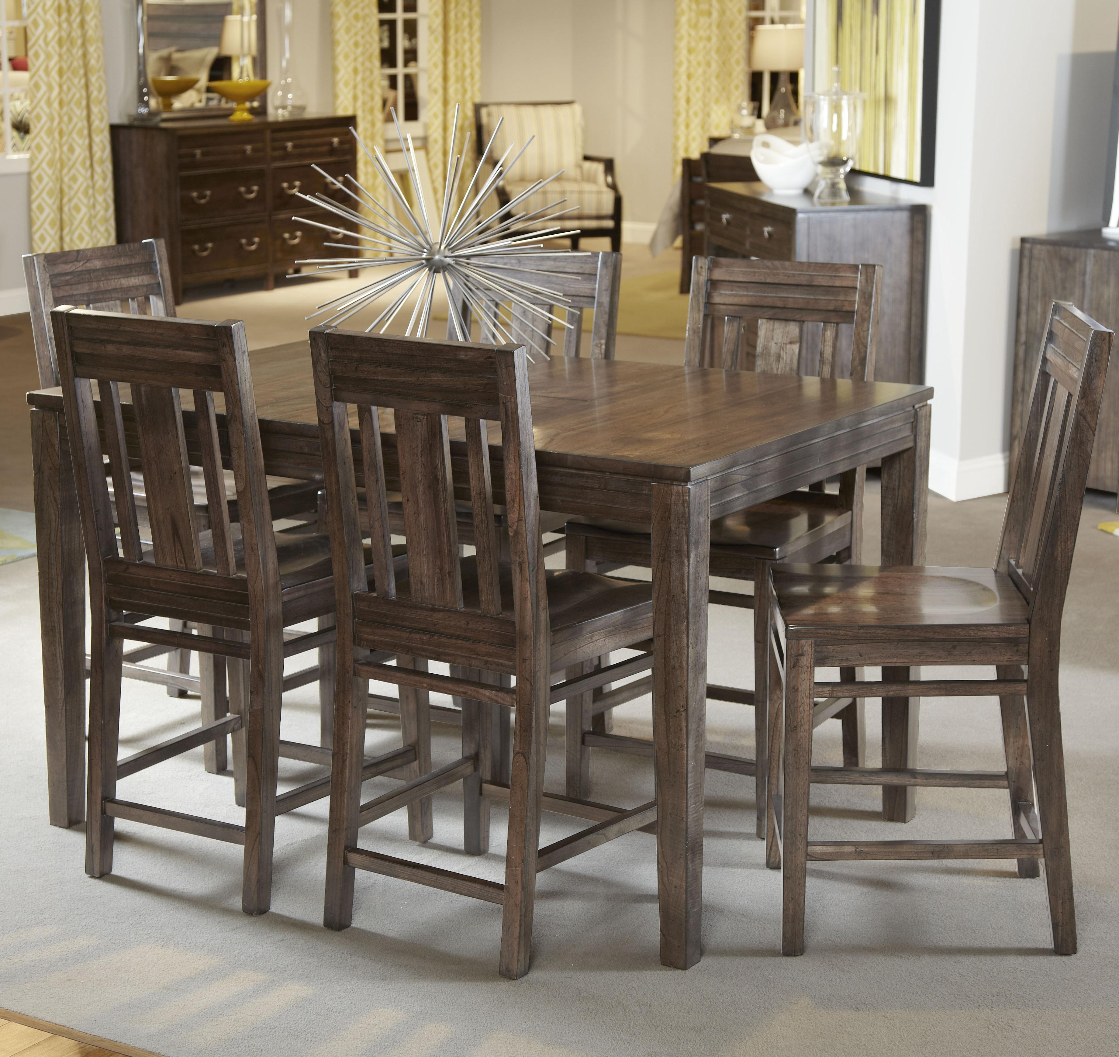 kincaid furniture montreat 7 pc casual counter height dining set