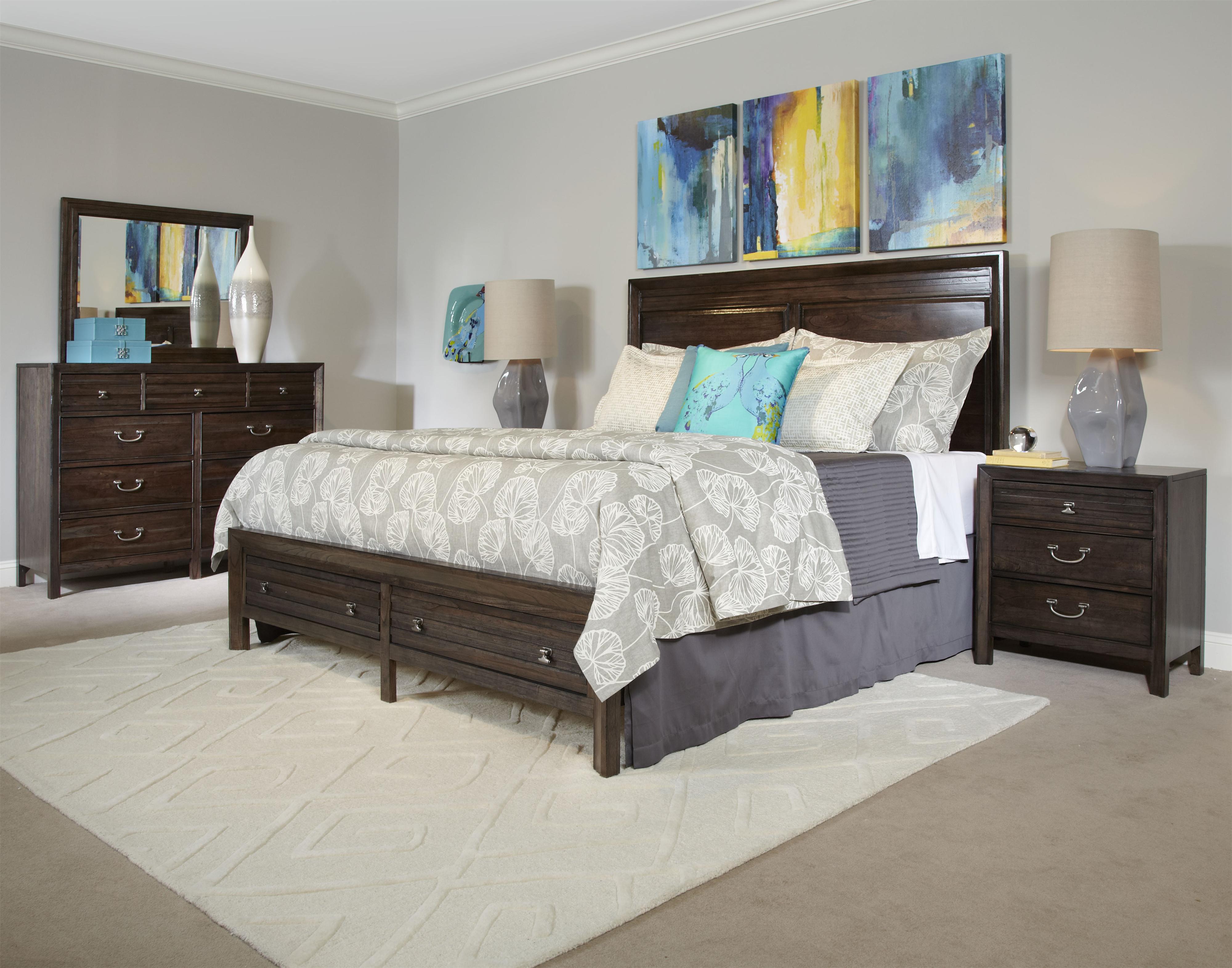Kincaid furniture montreat contemporary black rock bureau for Kincaid american journal bedroom furniture
