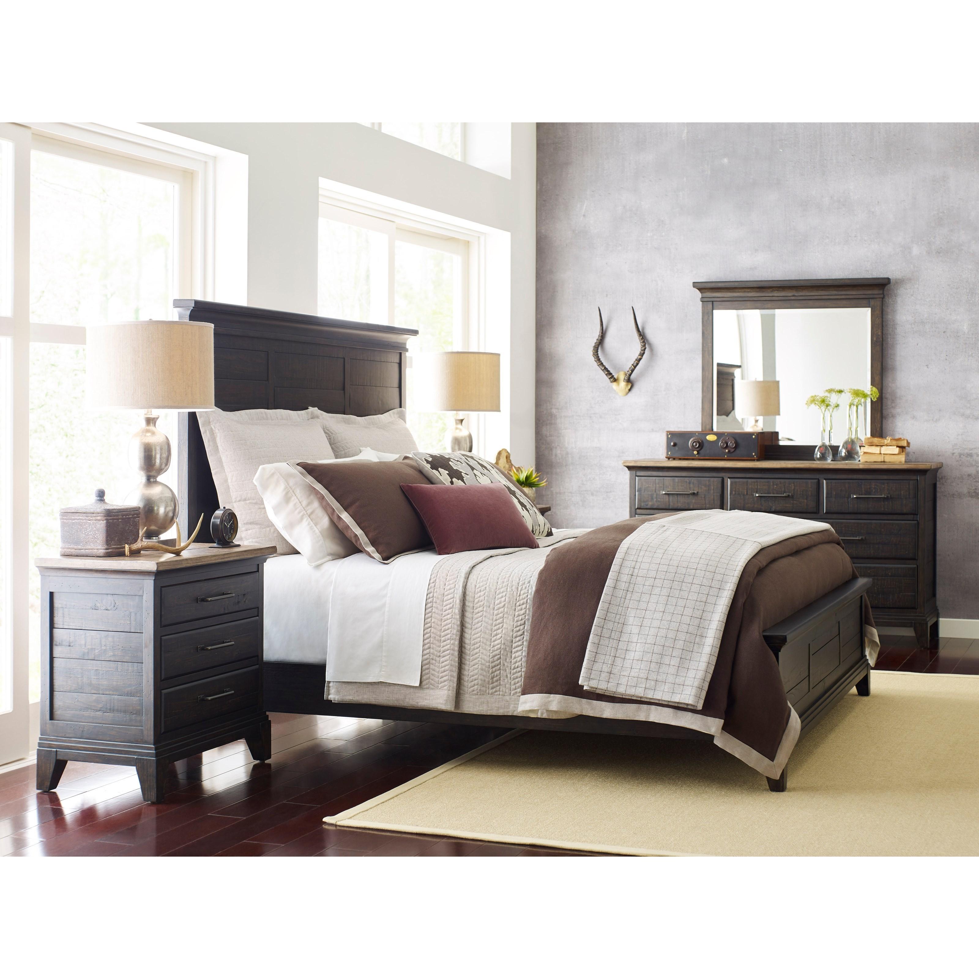 Kincaid Furniture Plank Road Jessup Solid Wood California King Panel Bed Jacksonville
