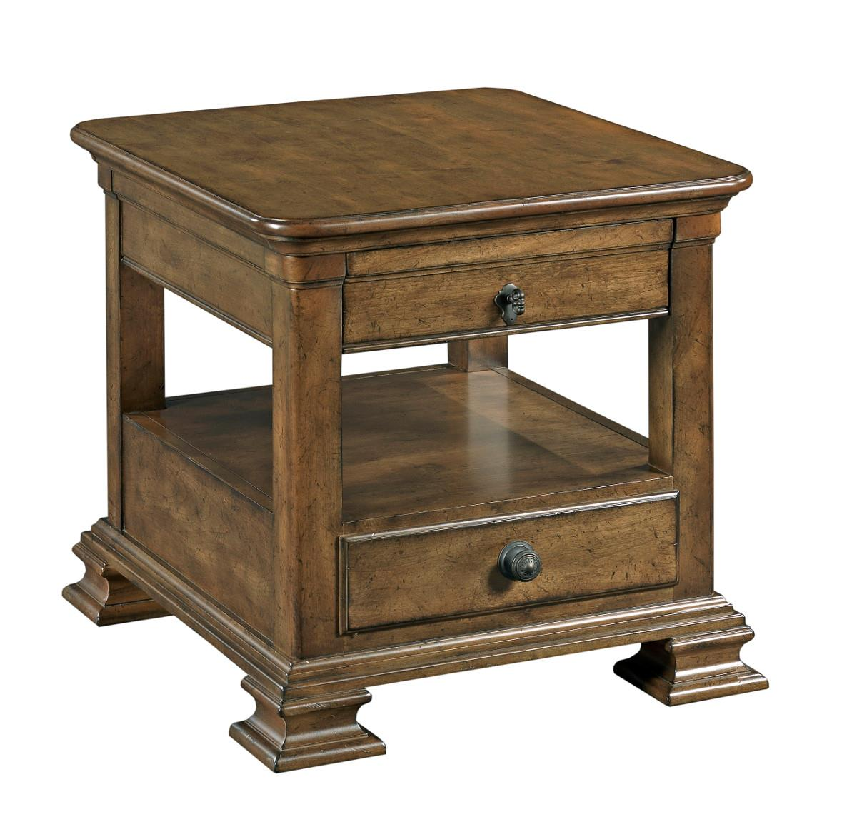 Kincaid furniture portolone traditional rectangular solid for Furniture end tables