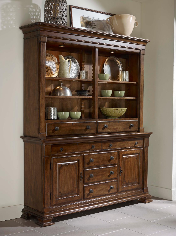 Wooden China Hutch ~ Portolone solid wood credenza and china hutch