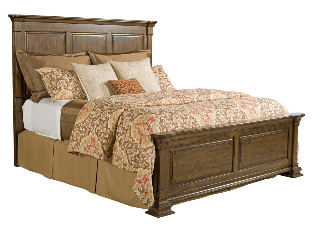 Kincaid Furniture Portolone 95 130p Queen Monteri Solid Wood Panel Bed Becker Furniture World