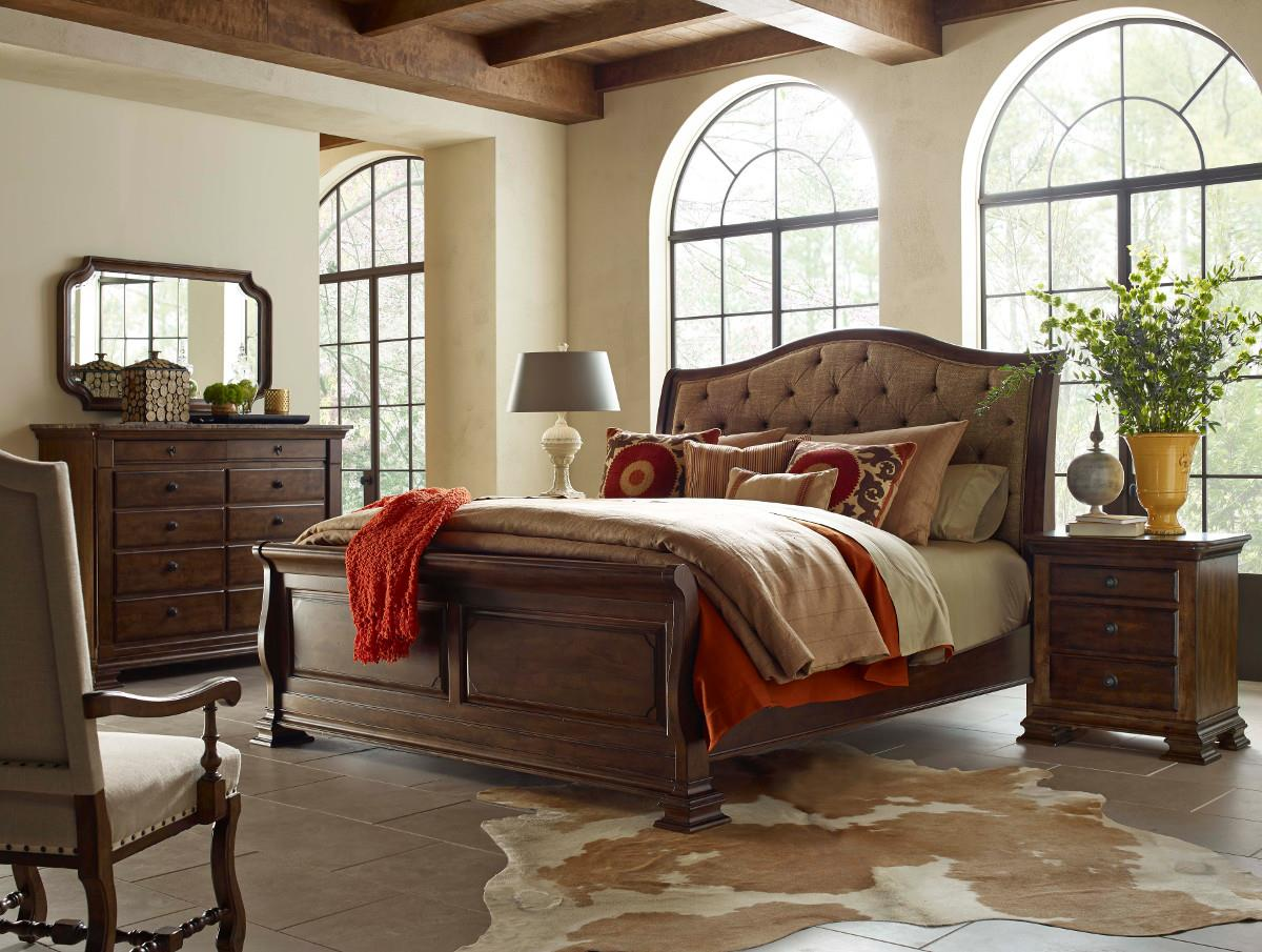 sleigh bedroom sets portolone king portolone upholstered sleigh bed by 13171