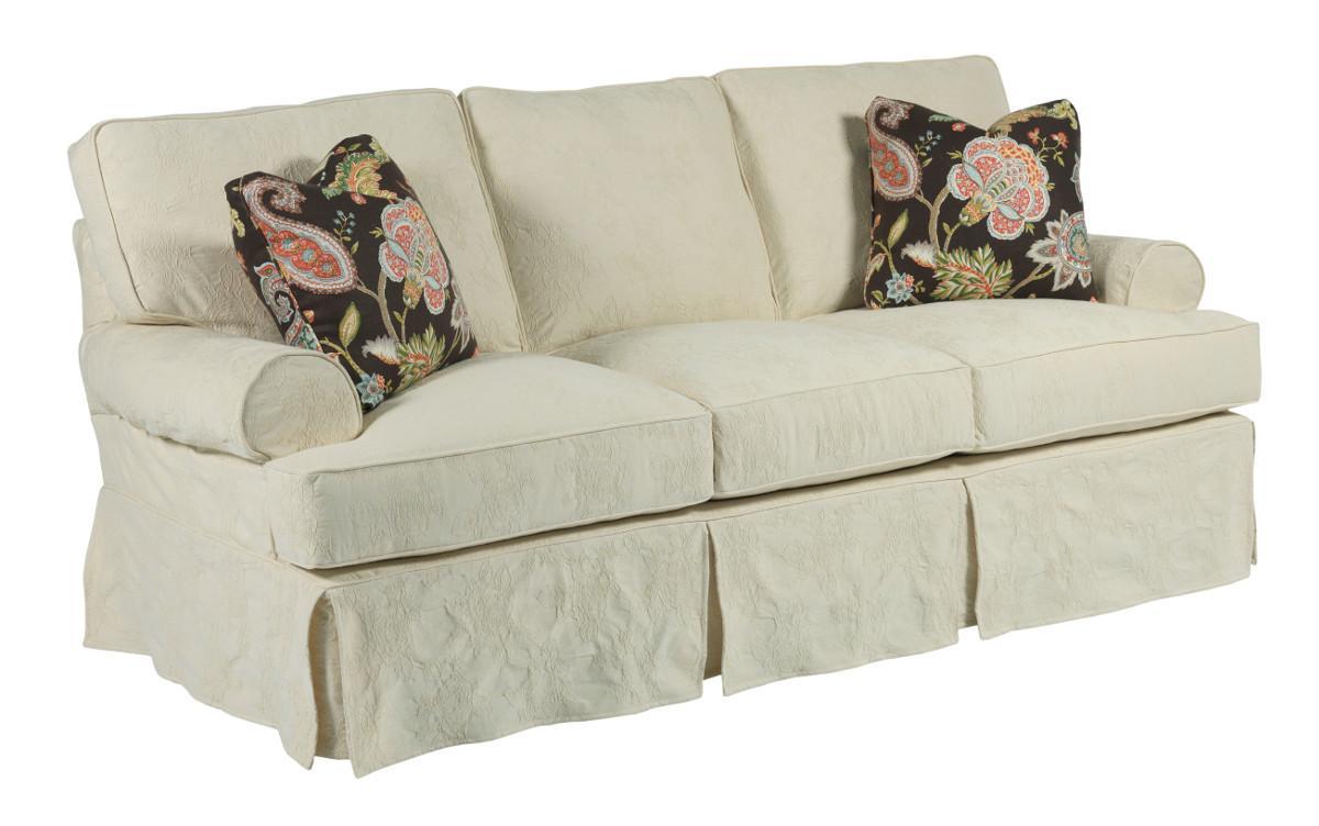 kincaid furniture samantha 648 76 samantha three seat sofa with slipcover tailoring loose. Black Bedroom Furniture Sets. Home Design Ideas