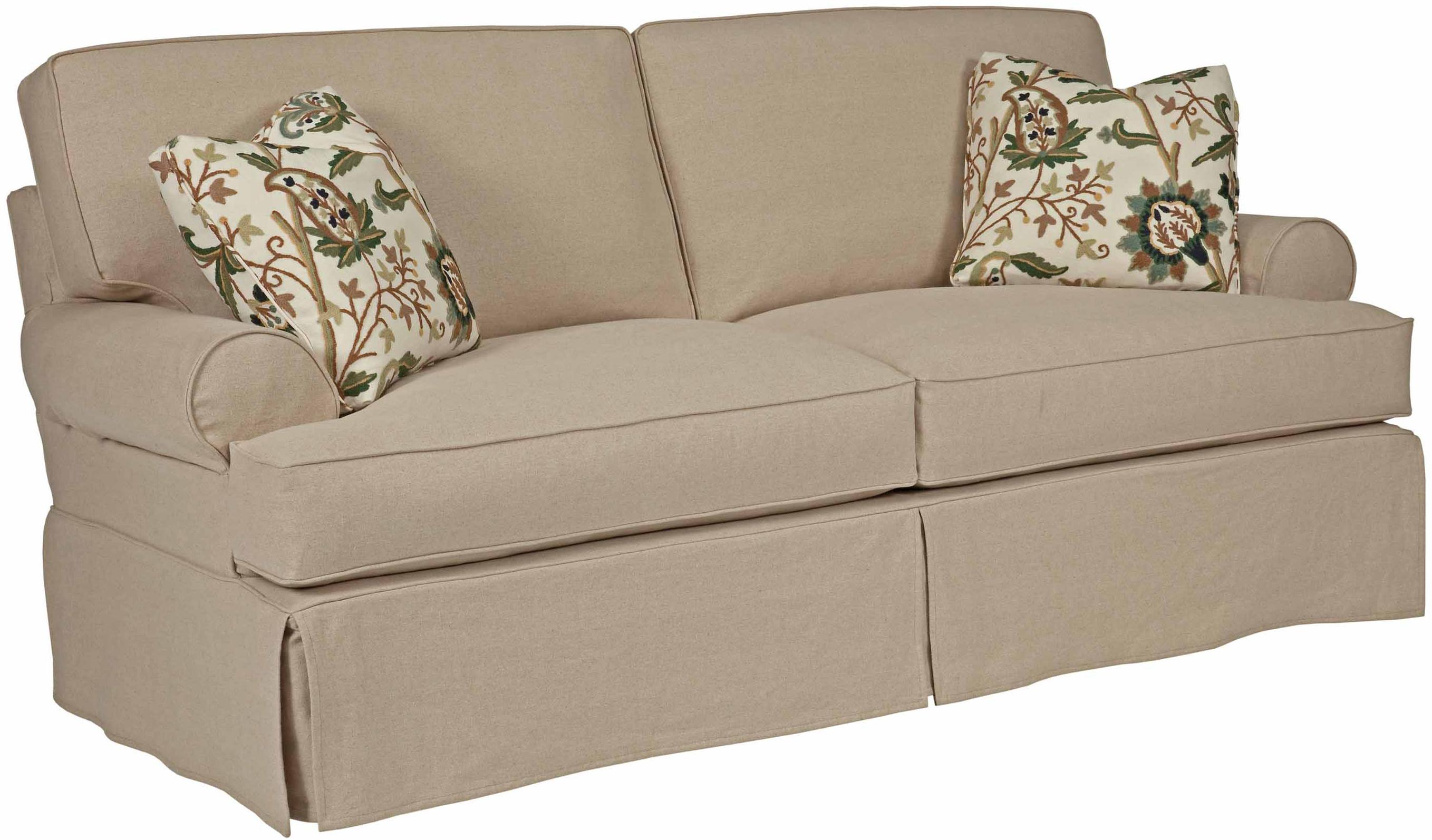 samantha two seat sofa with slipcover tailoring loose