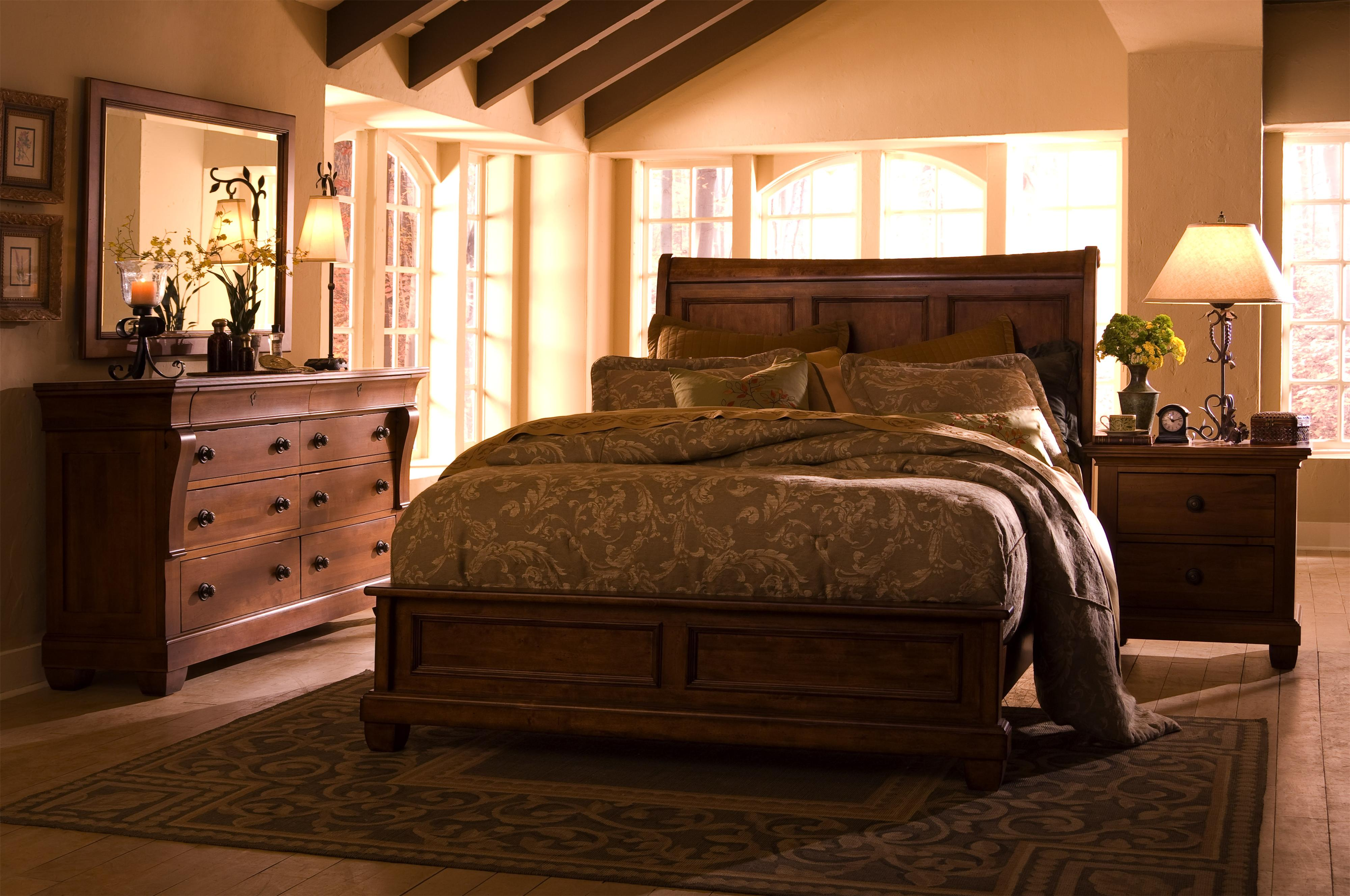 Bed With Sleigh Headboard By Kincaid Furniture Wolf Furniture