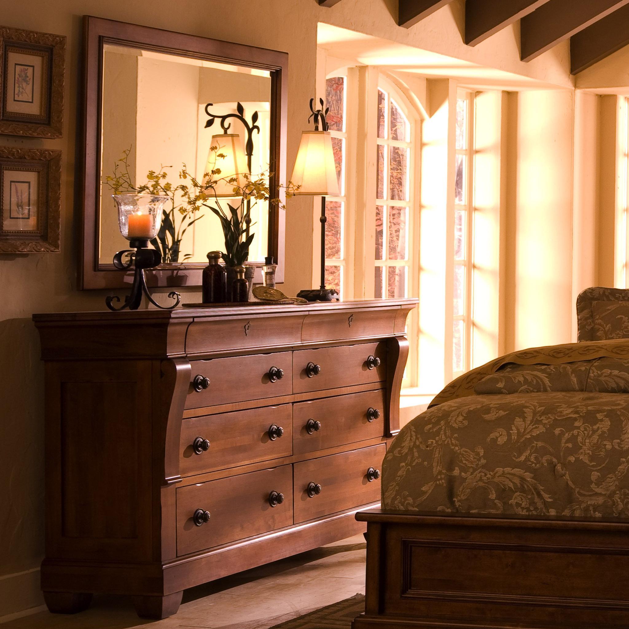 Kincaid Furniture Tuscano 8 Drawer Dresser With Landscape Mirror Hudson 39 S Furniture Dresser