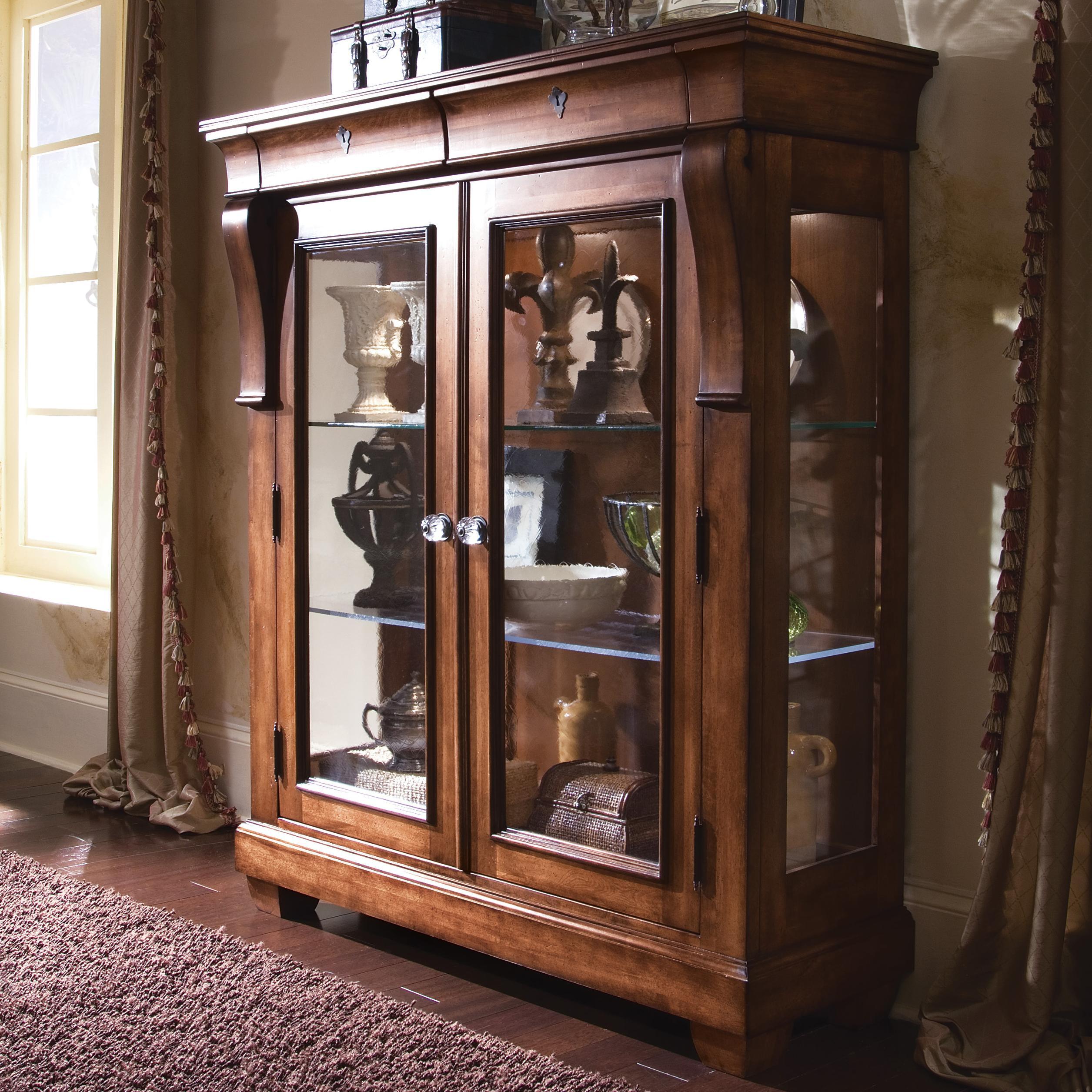 Popular Kincaid Furniture Tuscano 96-070V Curio Glass Door Display Cabinet  HA95