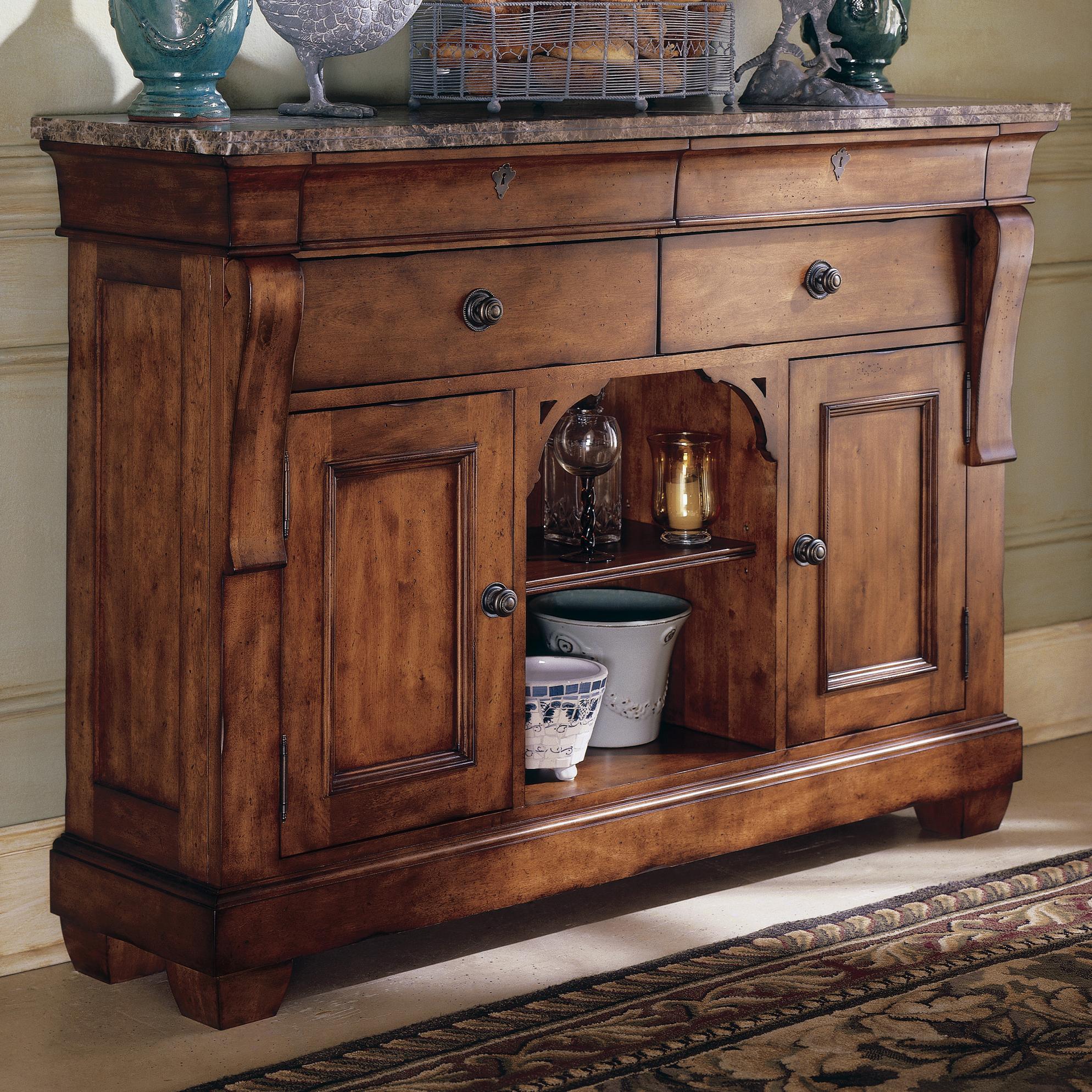 Kincaid Furniture Tuscano Sideboard With Marble Top Wayside Furniture Buffets