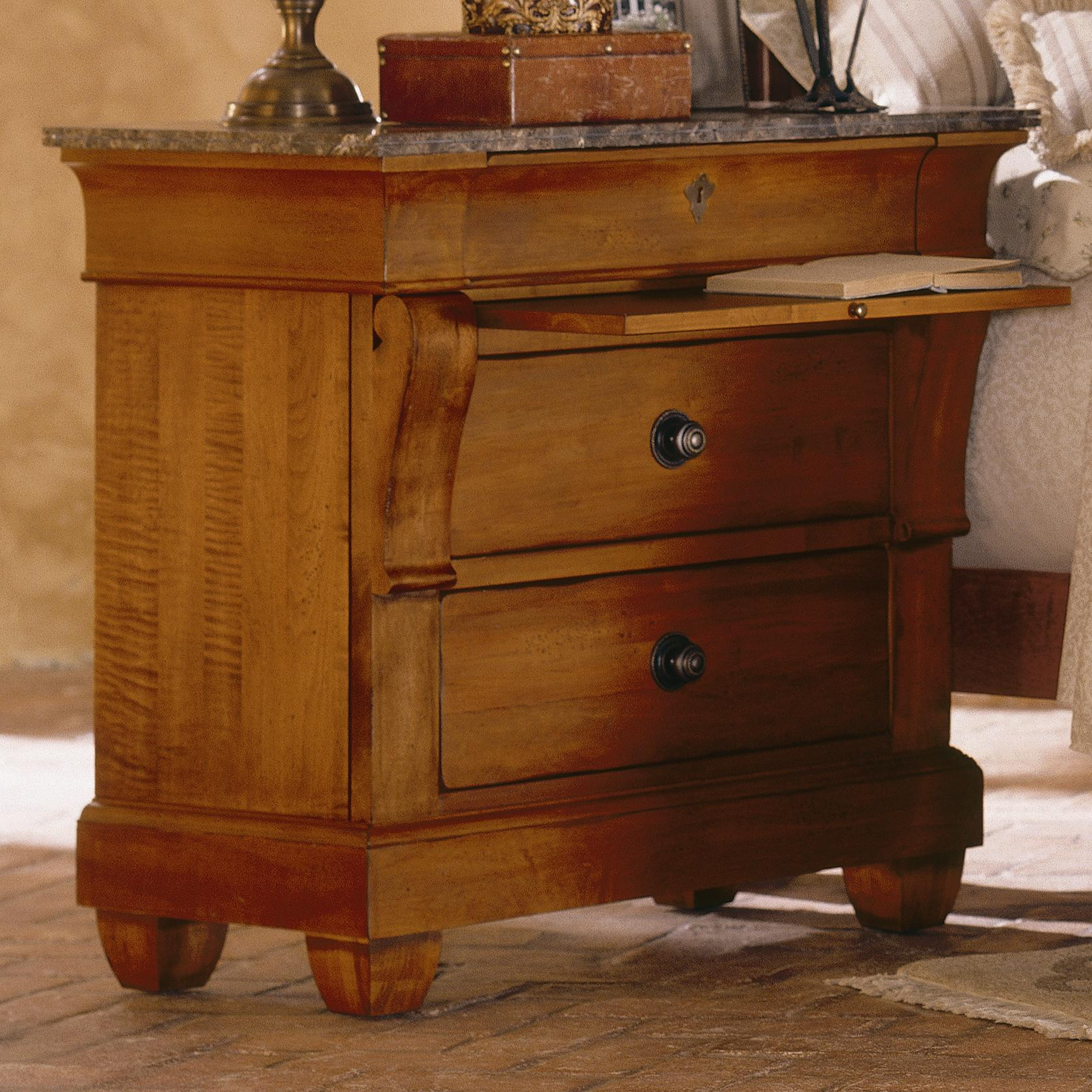 Kincaid Furniture Tuscano Bedside Chest With Marble Top Olinde 39 S Furniture Night Stands