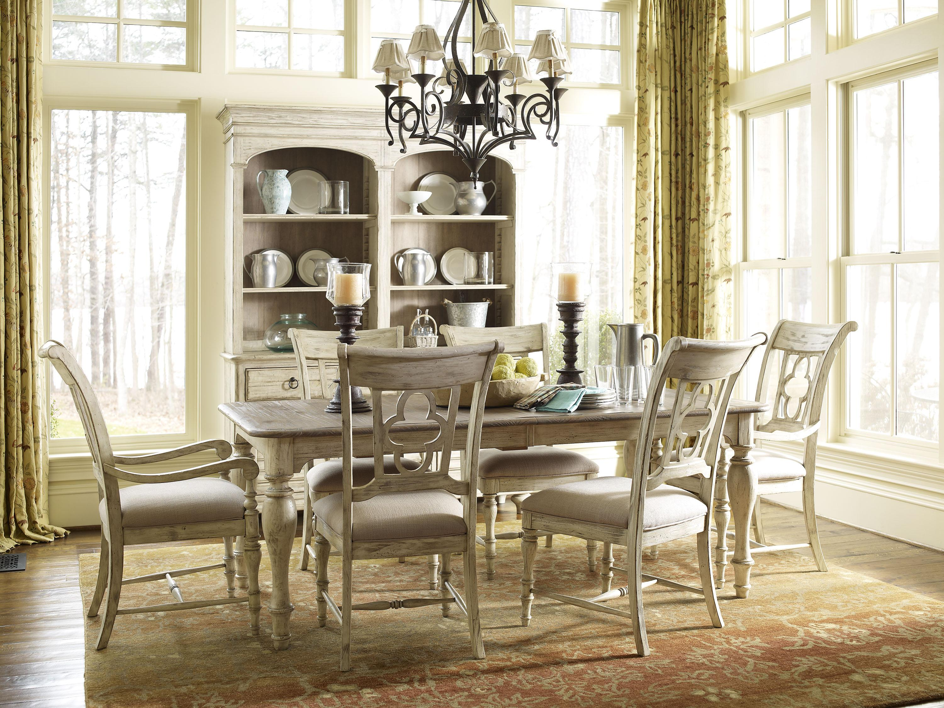 Kincaid furniture weatherford 7 piece dining set with for A piece of furniture