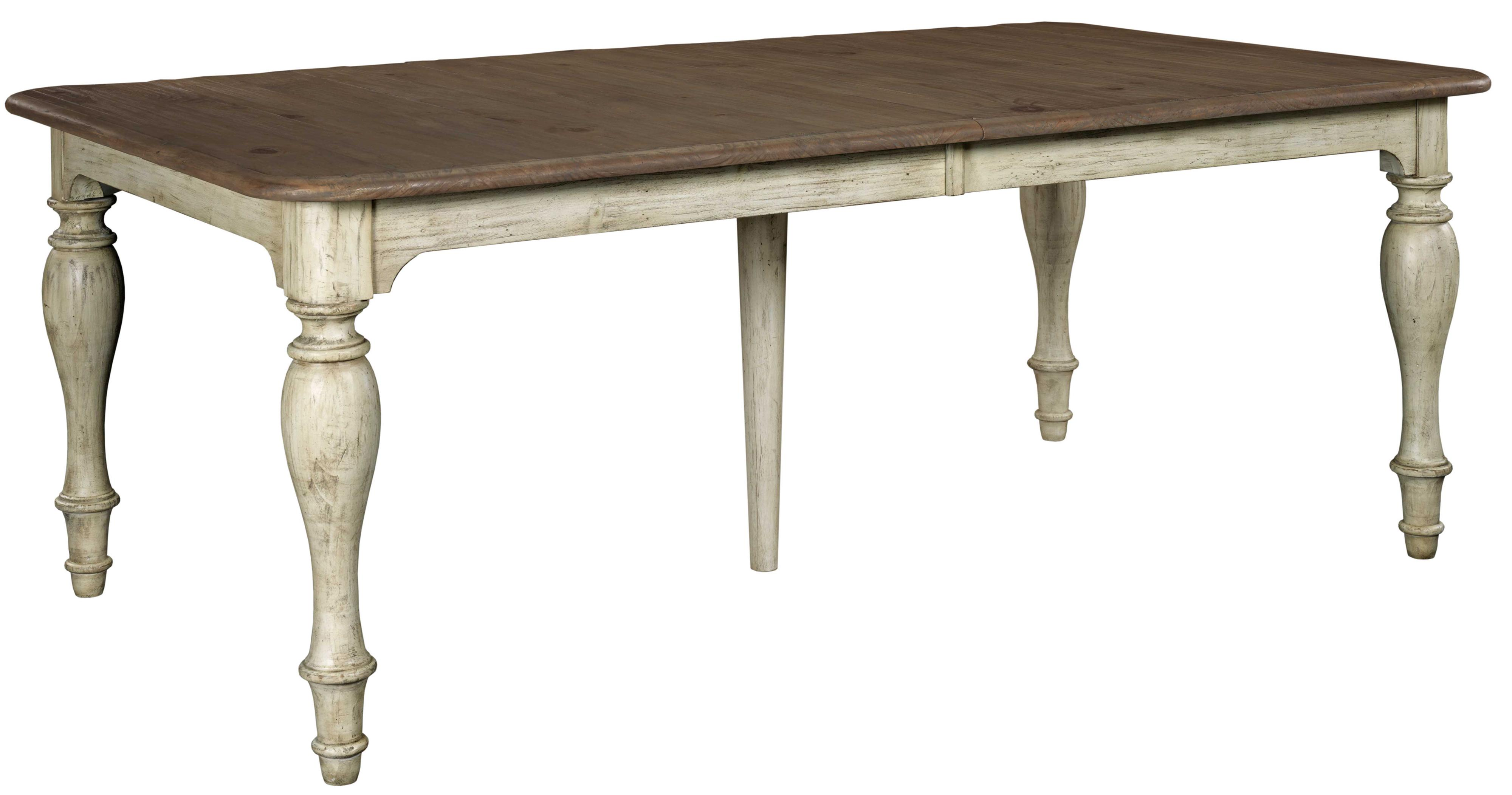 Kincaid furniture weatherford 75 054 canterbury table with for World best dining tables